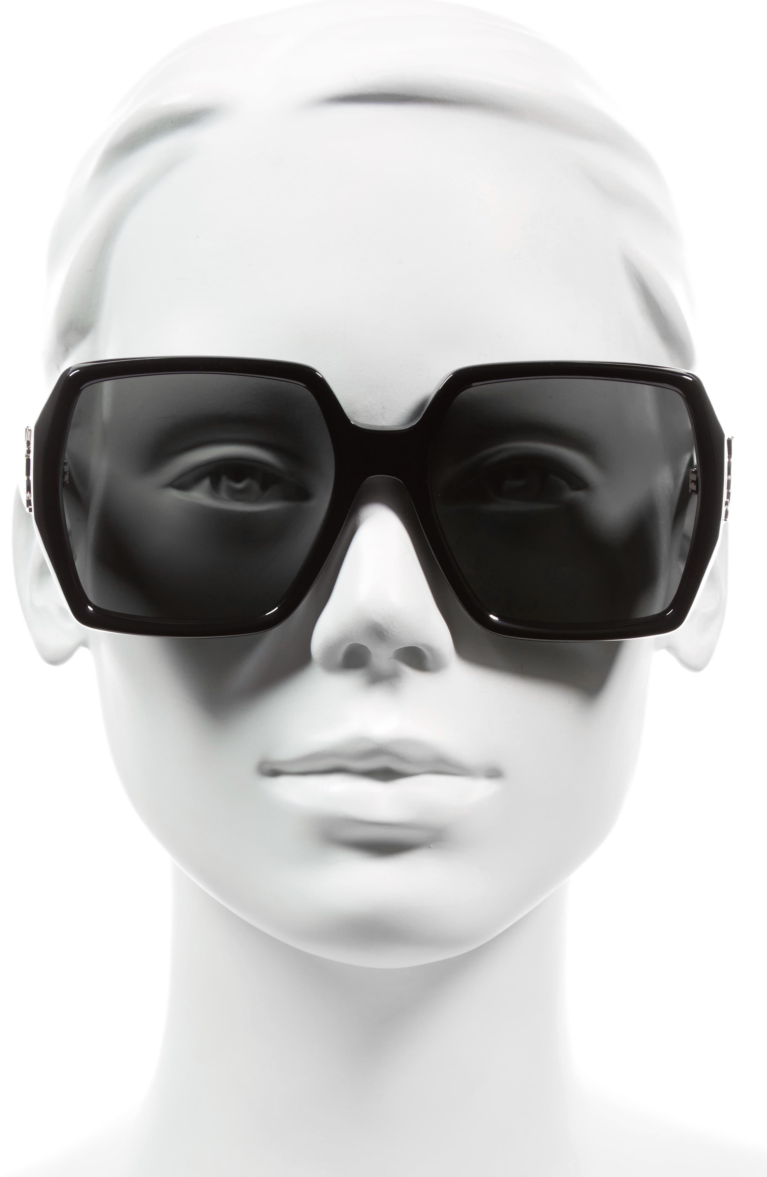 SAINT LAURENT,                             58mm Square Sunglasses,                             Alternate thumbnail 2, color,                             001