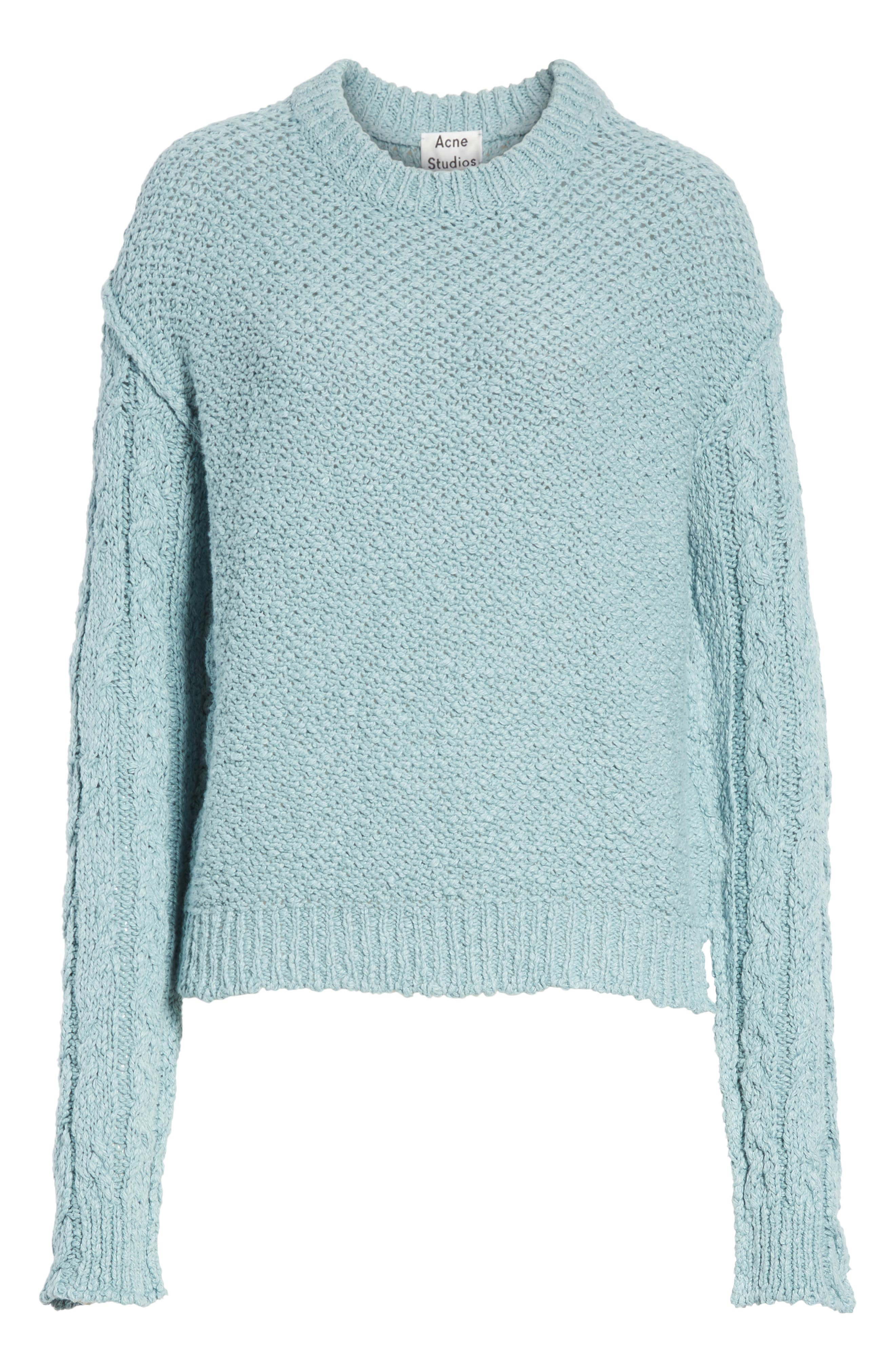Hila Cable Sleeve Sweater,                             Alternate thumbnail 6, color,                             400