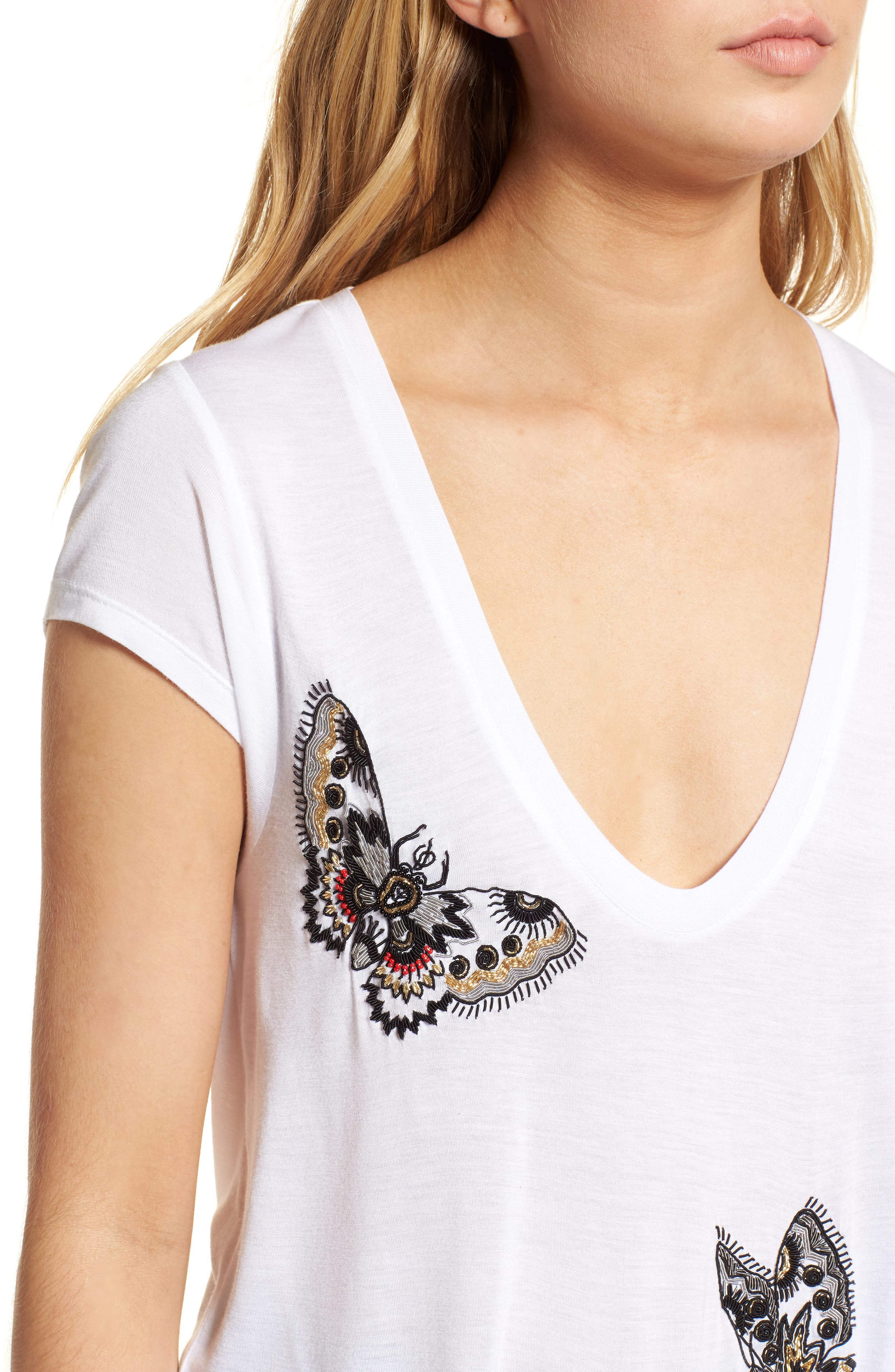 Tiny Cannet Butterfly Tee,                             Alternate thumbnail 4, color,                             100