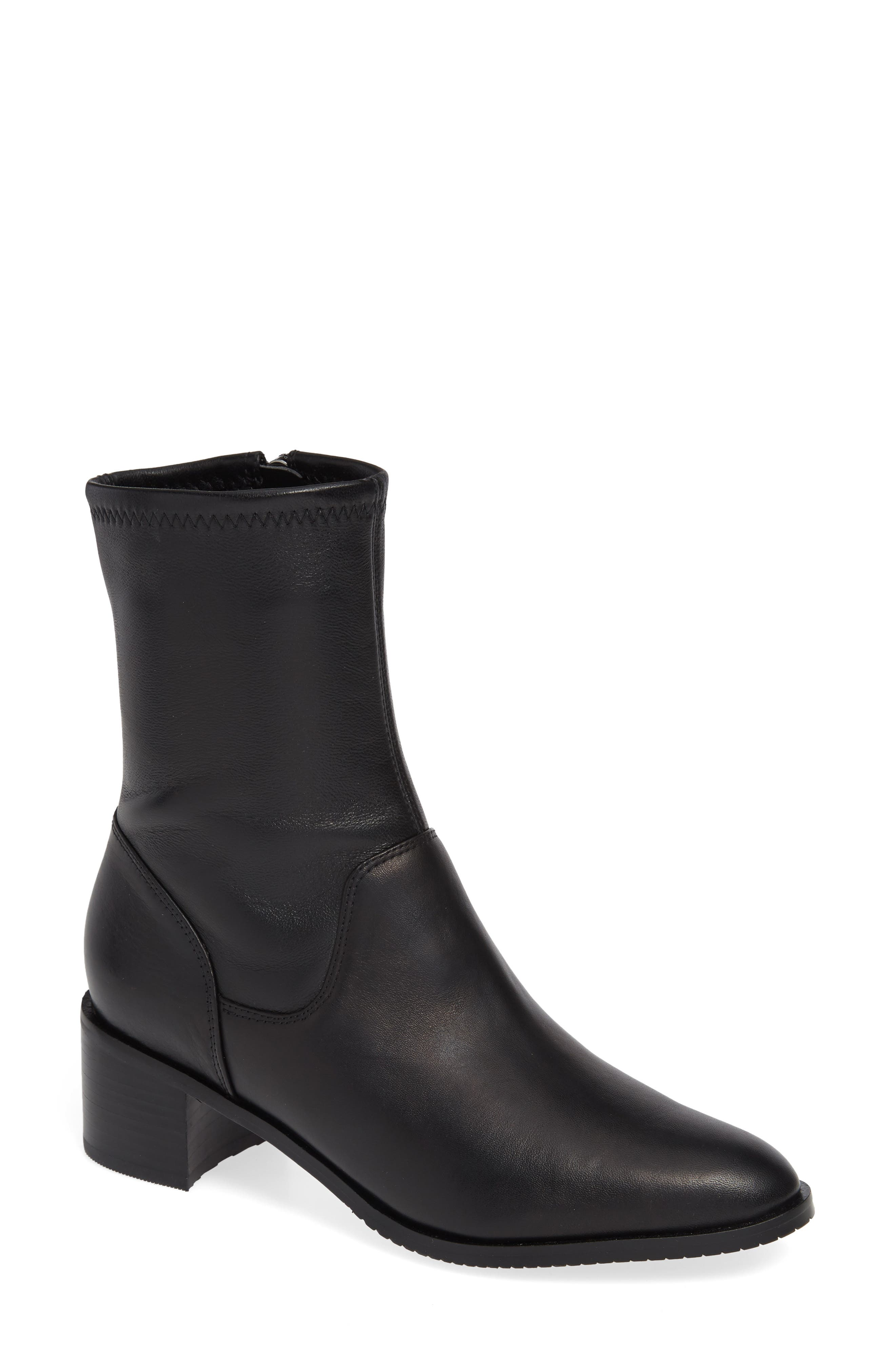 Poise Leah Boot,                             Main thumbnail 1, color,                             BLACK LEATHER