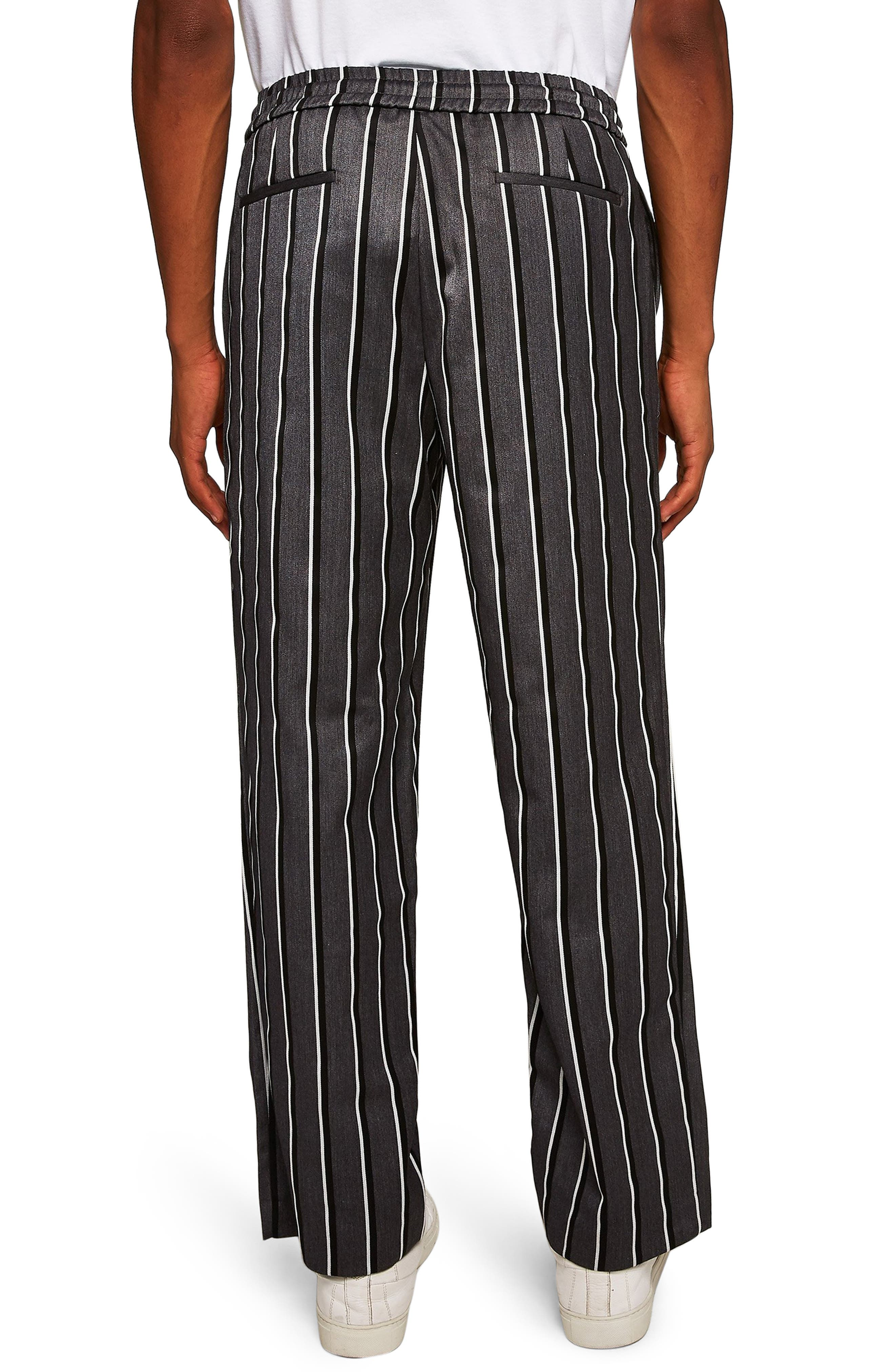 Stripe Wide Leg Joggers,                             Alternate thumbnail 2, color,                             GREY MULTI