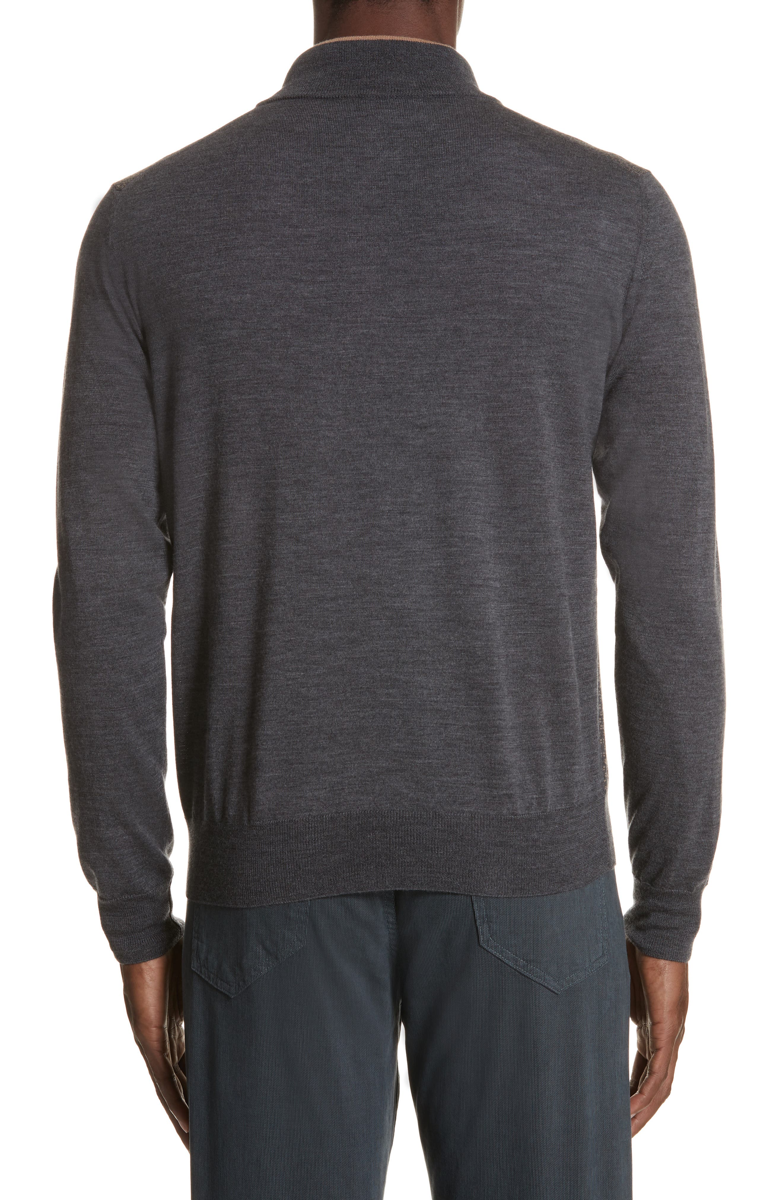Quarter Zip Wool Sweater,                             Alternate thumbnail 2, color,                             020