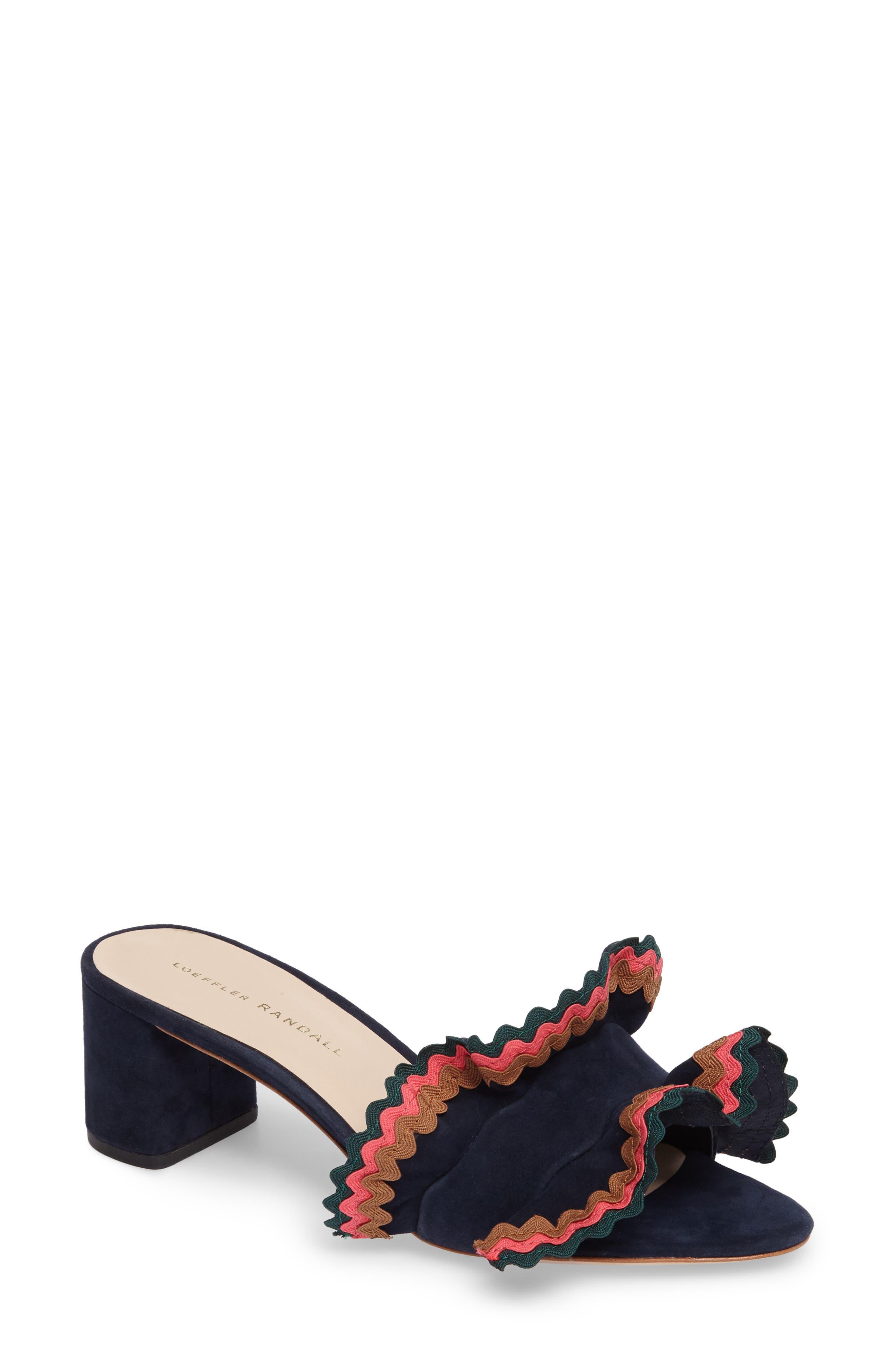 Vera Ruffled Slide Sandal,                             Main thumbnail 1, color,                             499