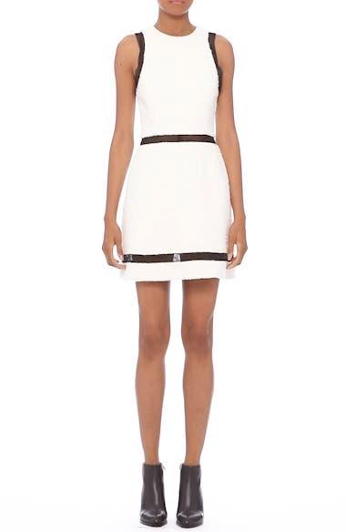 Chain Mail Trim Tweed Dress, video thumbnail