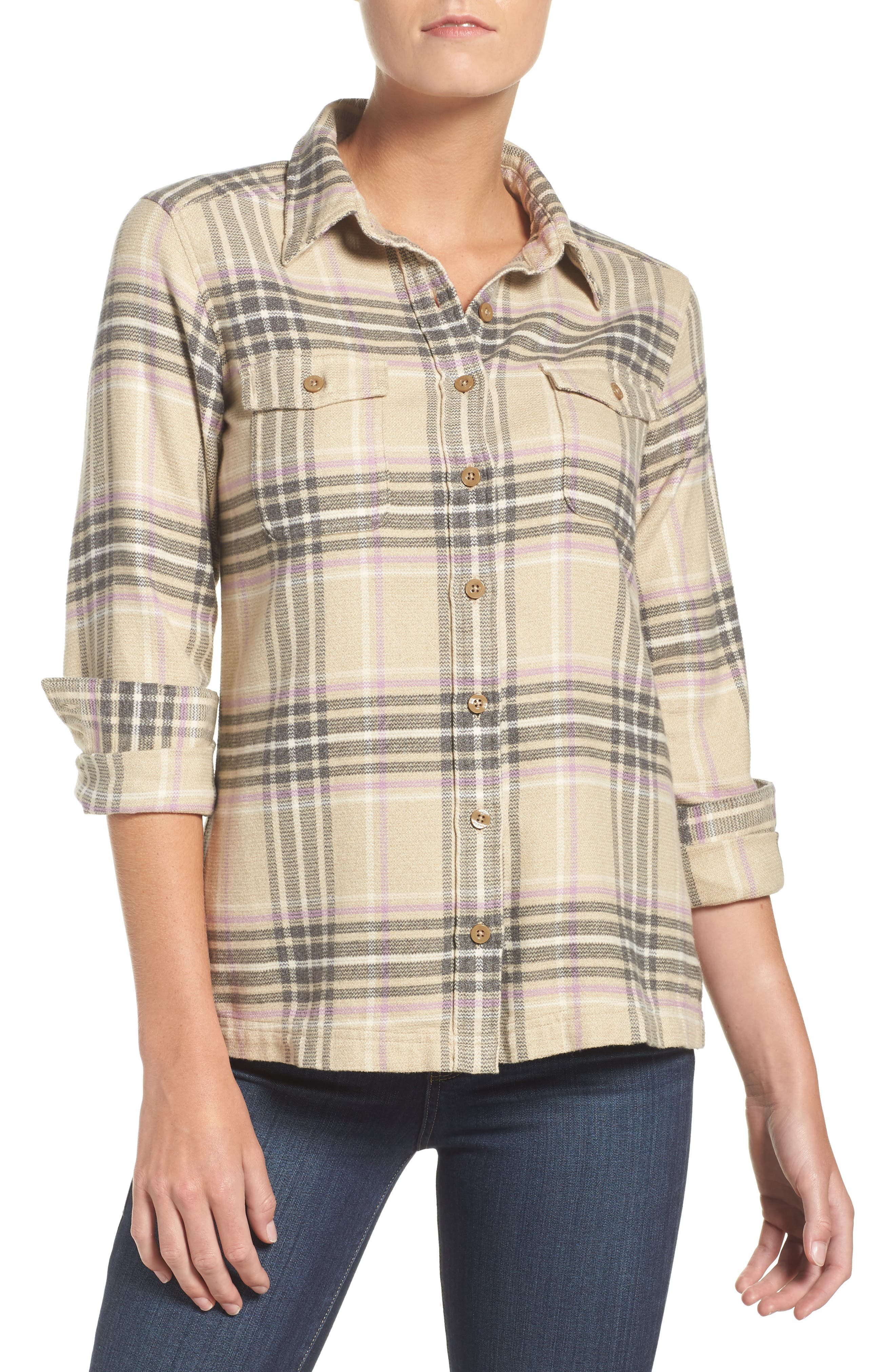 'Fjord' Flannel Shirt,                             Main thumbnail 8, color,