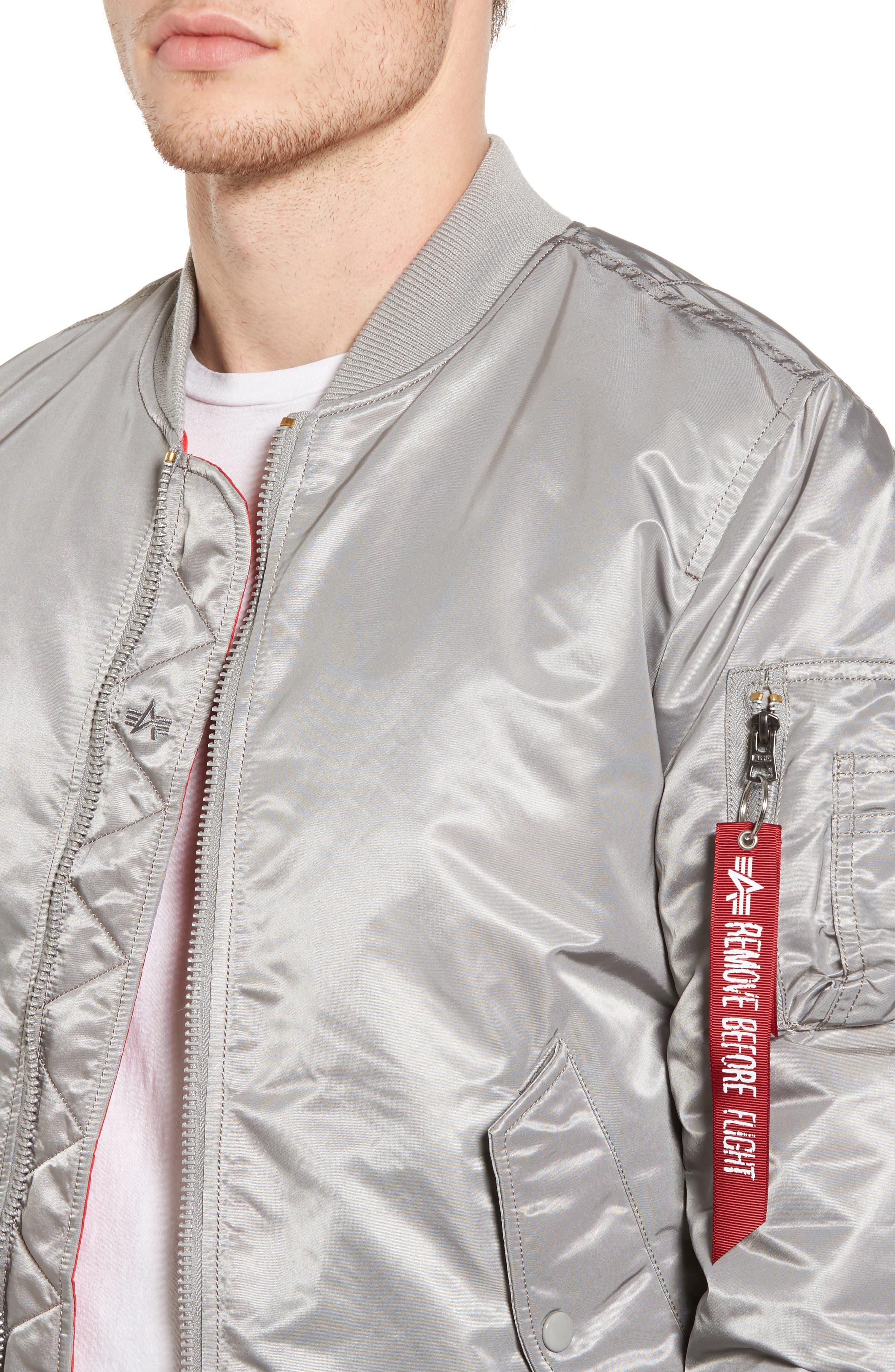 'MA-1' Slim Fit Bomber Jacket,                             Alternate thumbnail 38, color,