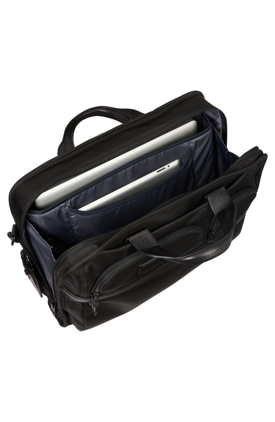 Alpha 2 Laptop Briefcase with Tumi ID Lock Pocket,                             Alternate thumbnail 2, color,                             BLACK