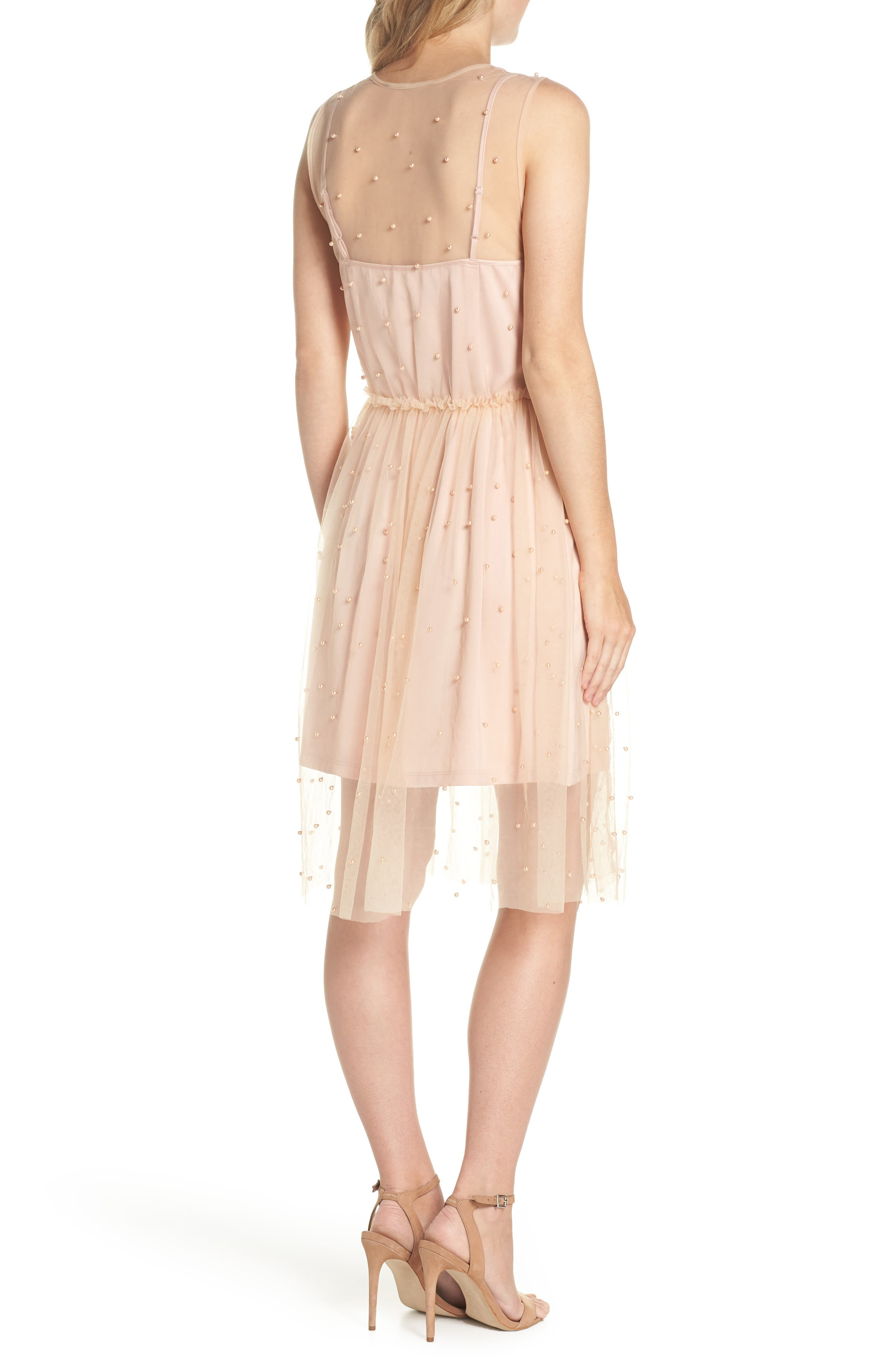 FOREST LILY,                             Imitation Pearl & Tulle Dress,                             Alternate thumbnail 2, color,                             680