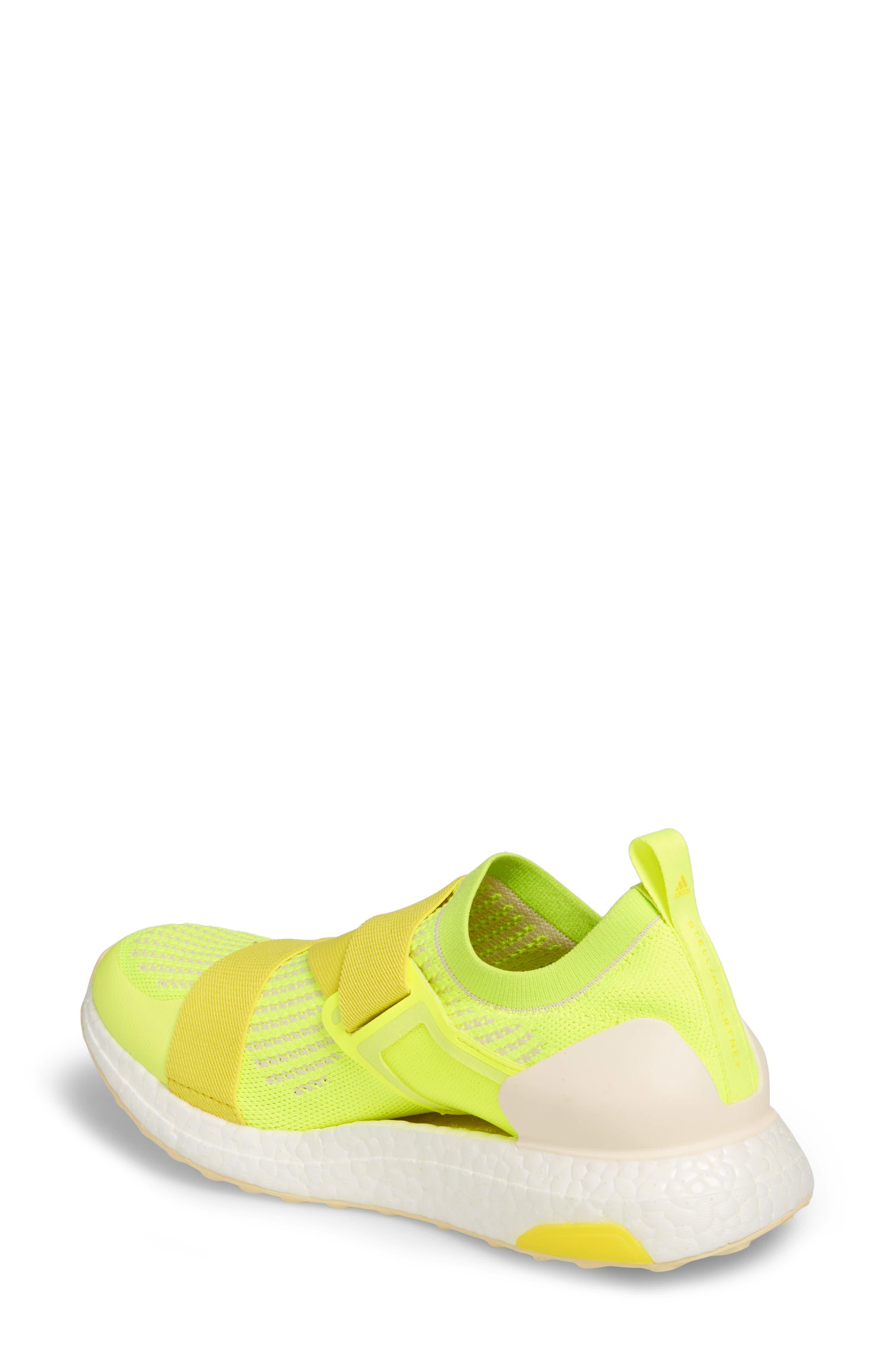 UltraBoost X Running Shoe,                             Alternate thumbnail 2, color,                             SOLAR YELLOW/ YELLOW/ SUN