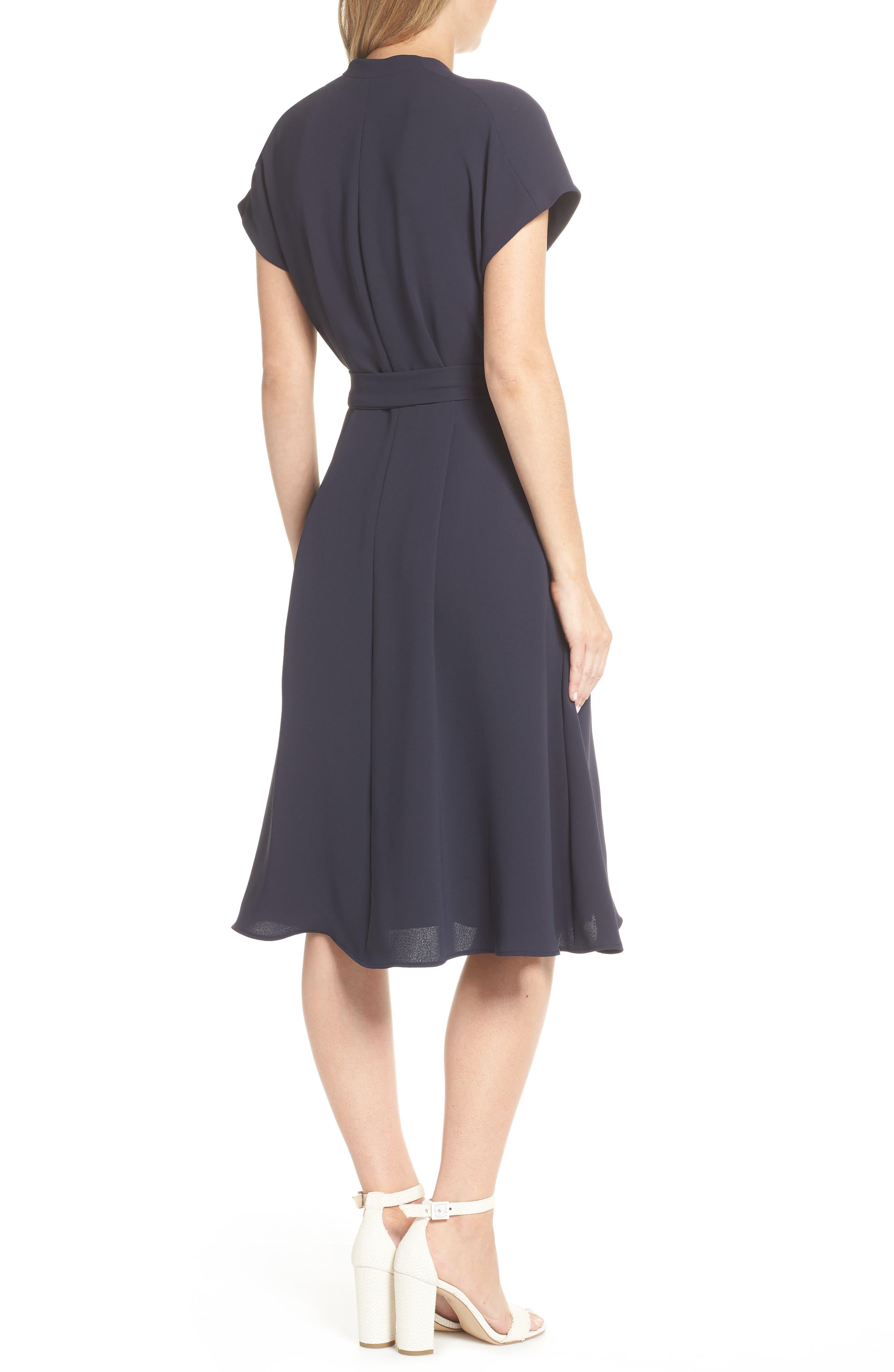 Audrey Wrap Dress,                             Alternate thumbnail 2, color,                             NAVY