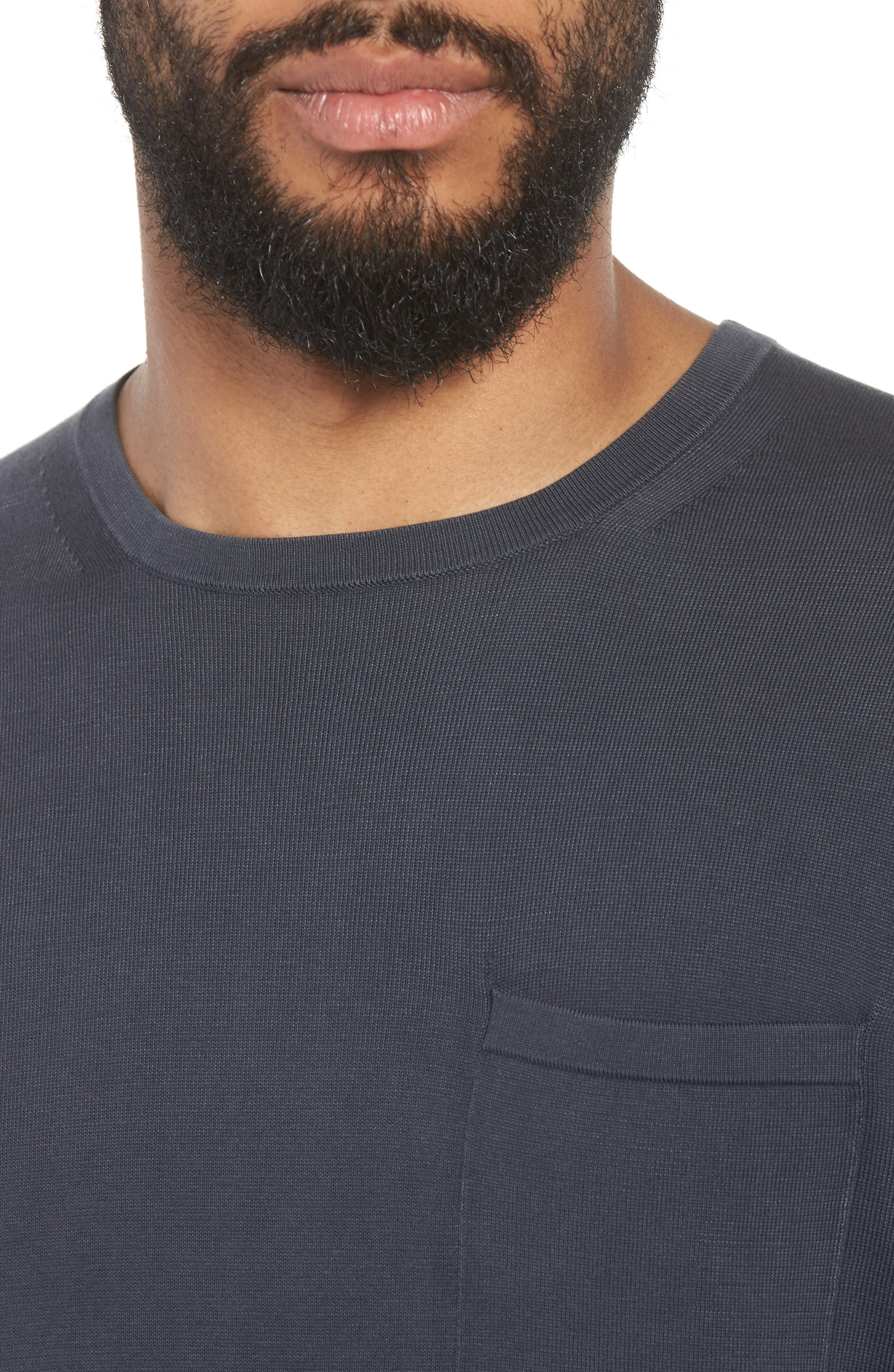 Crewneck Cotton Sweater,                             Alternate thumbnail 4, color,                             061