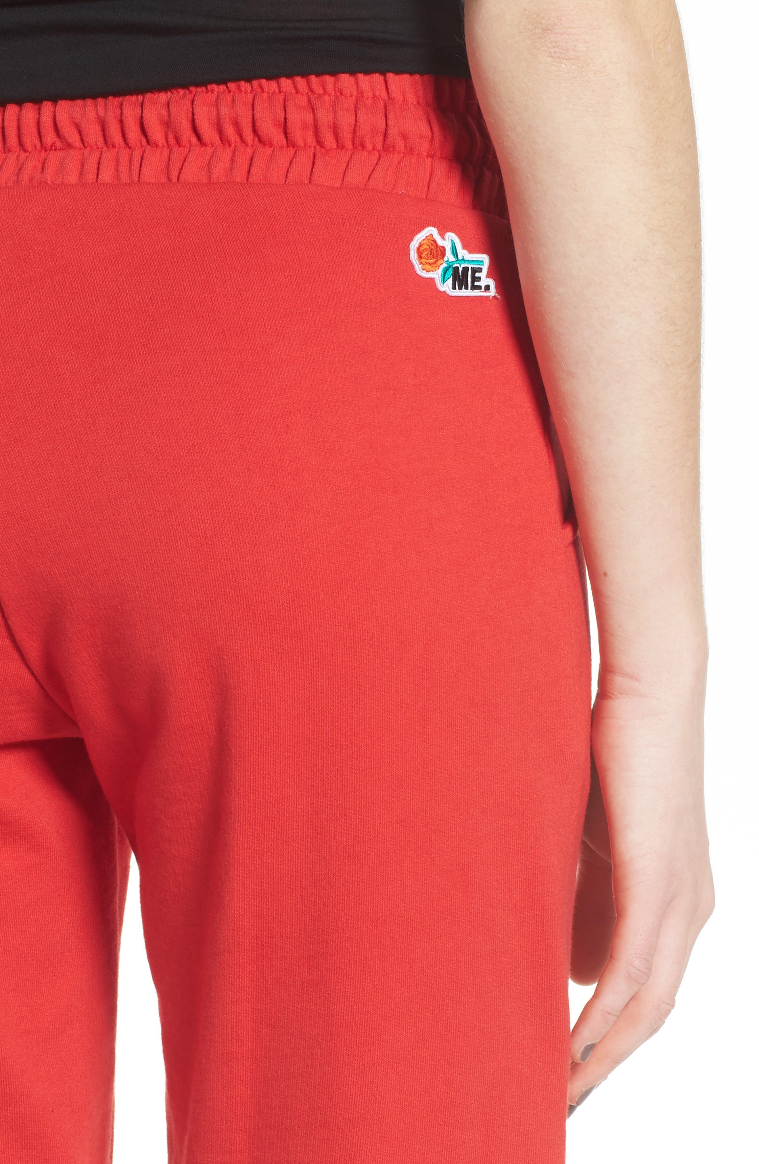 ME. Rose Sweatpants,                             Alternate thumbnail 6, color,                             CHERRY RED