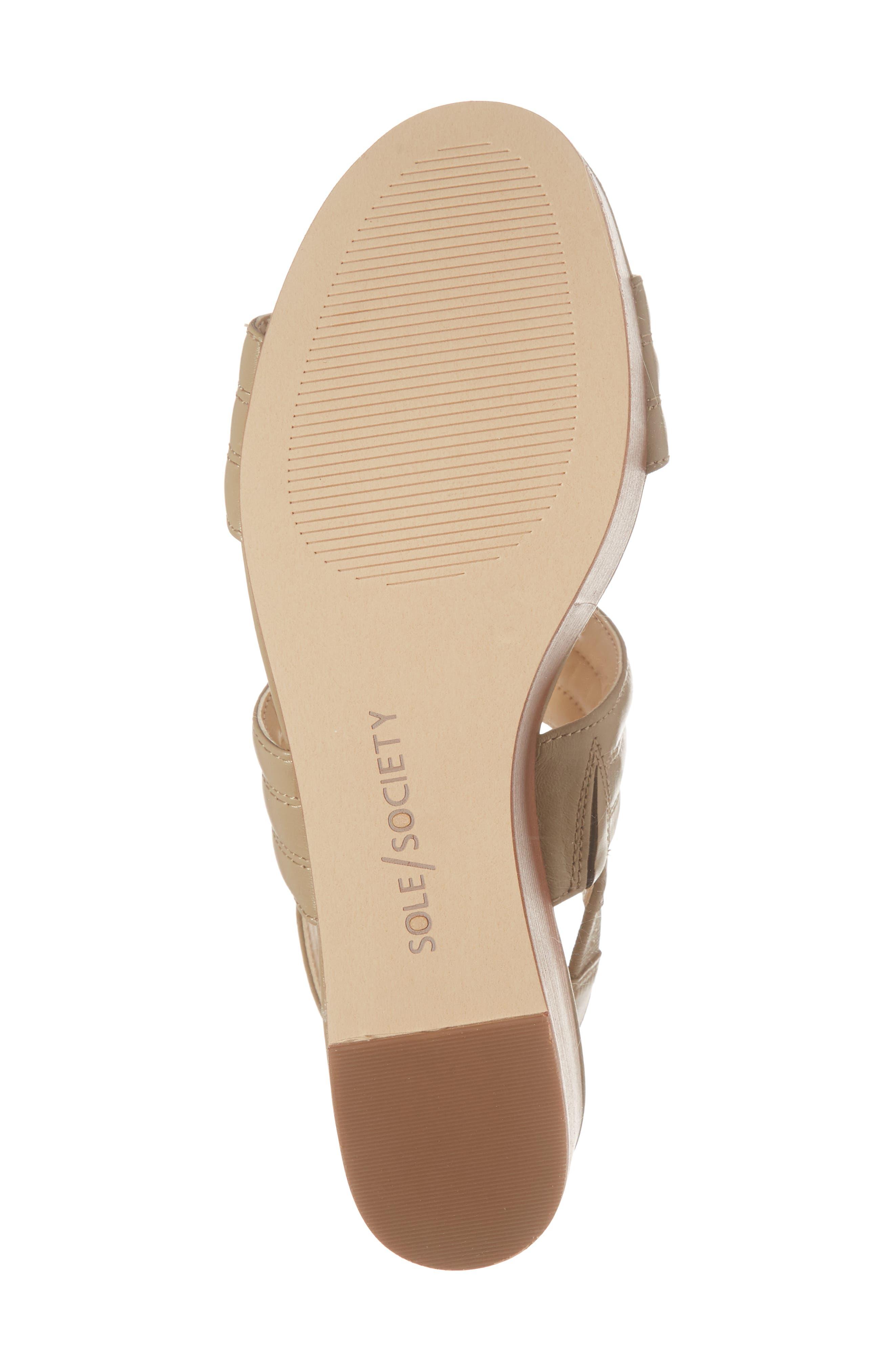Amberly Platform Sandal,                             Alternate thumbnail 6, color,                             200