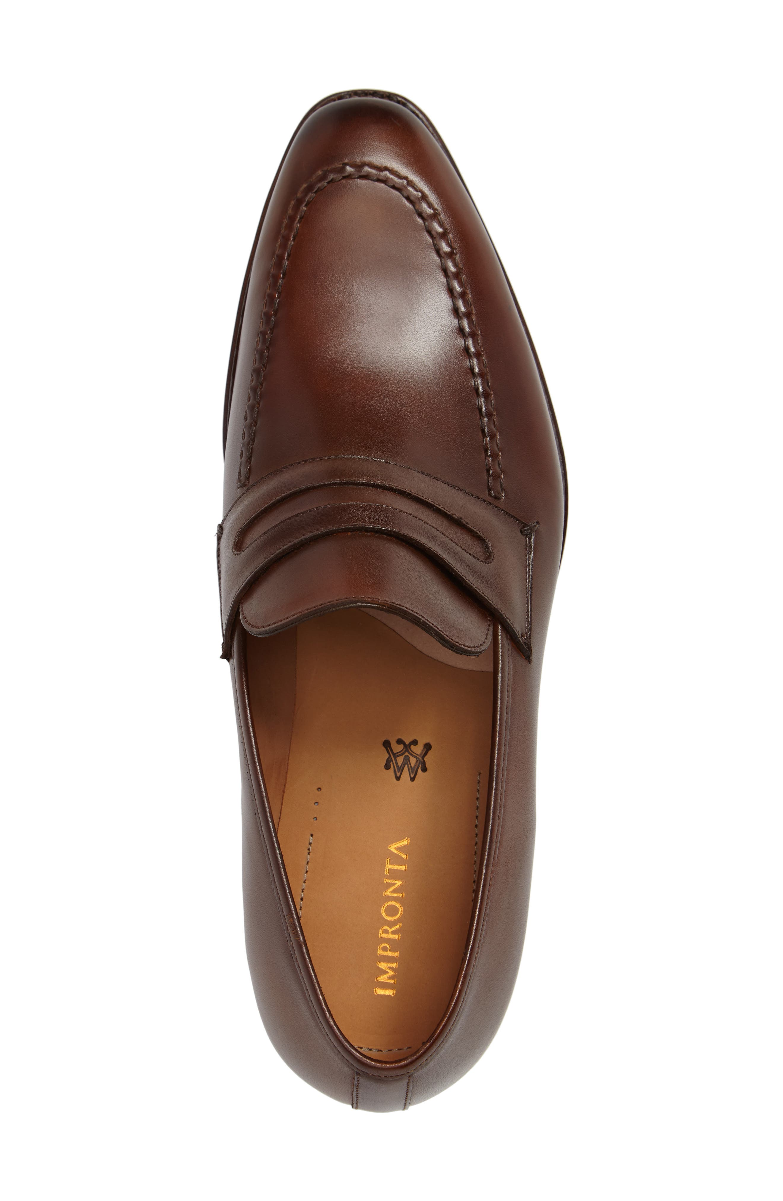 by Mezlan G124 Apron Toe Loafer,                             Alternate thumbnail 3, color,                             COGNAC
