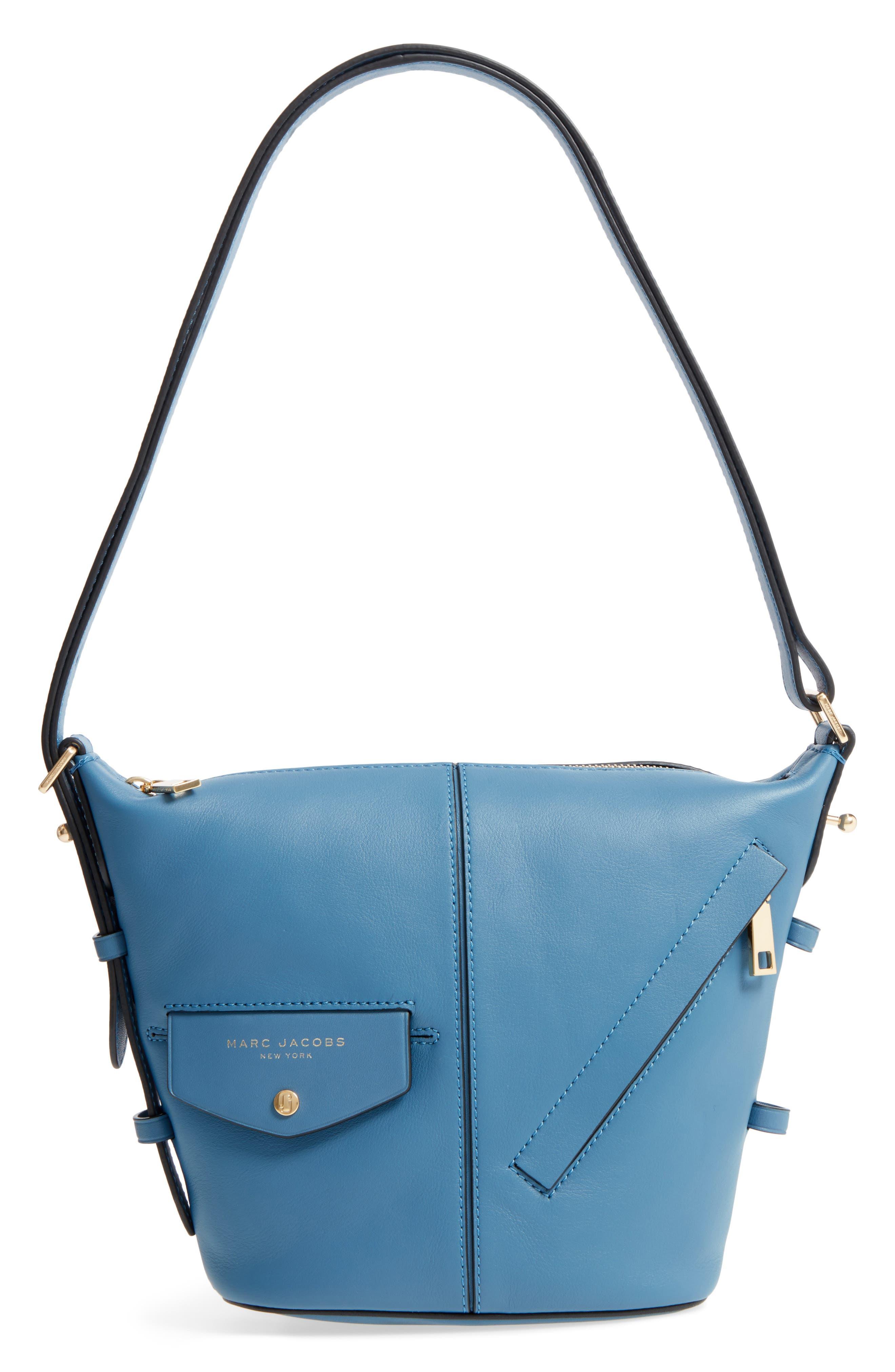 The Mini Sling Convertible Leather Hobo,                             Main thumbnail 6, color,