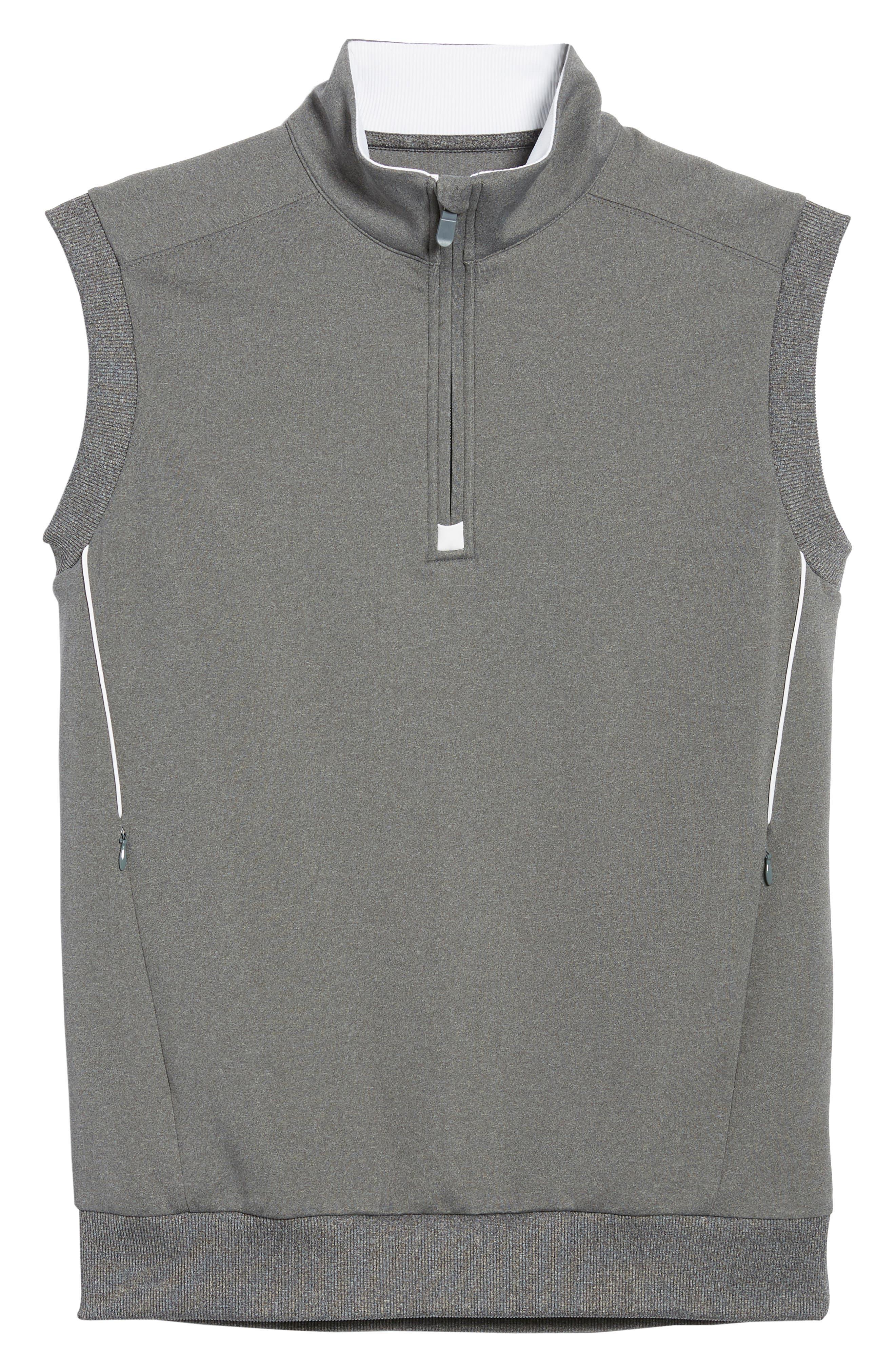 Quarter Zip Tech Vest,                             Alternate thumbnail 6, color,                             GRAPHITE HEATHER