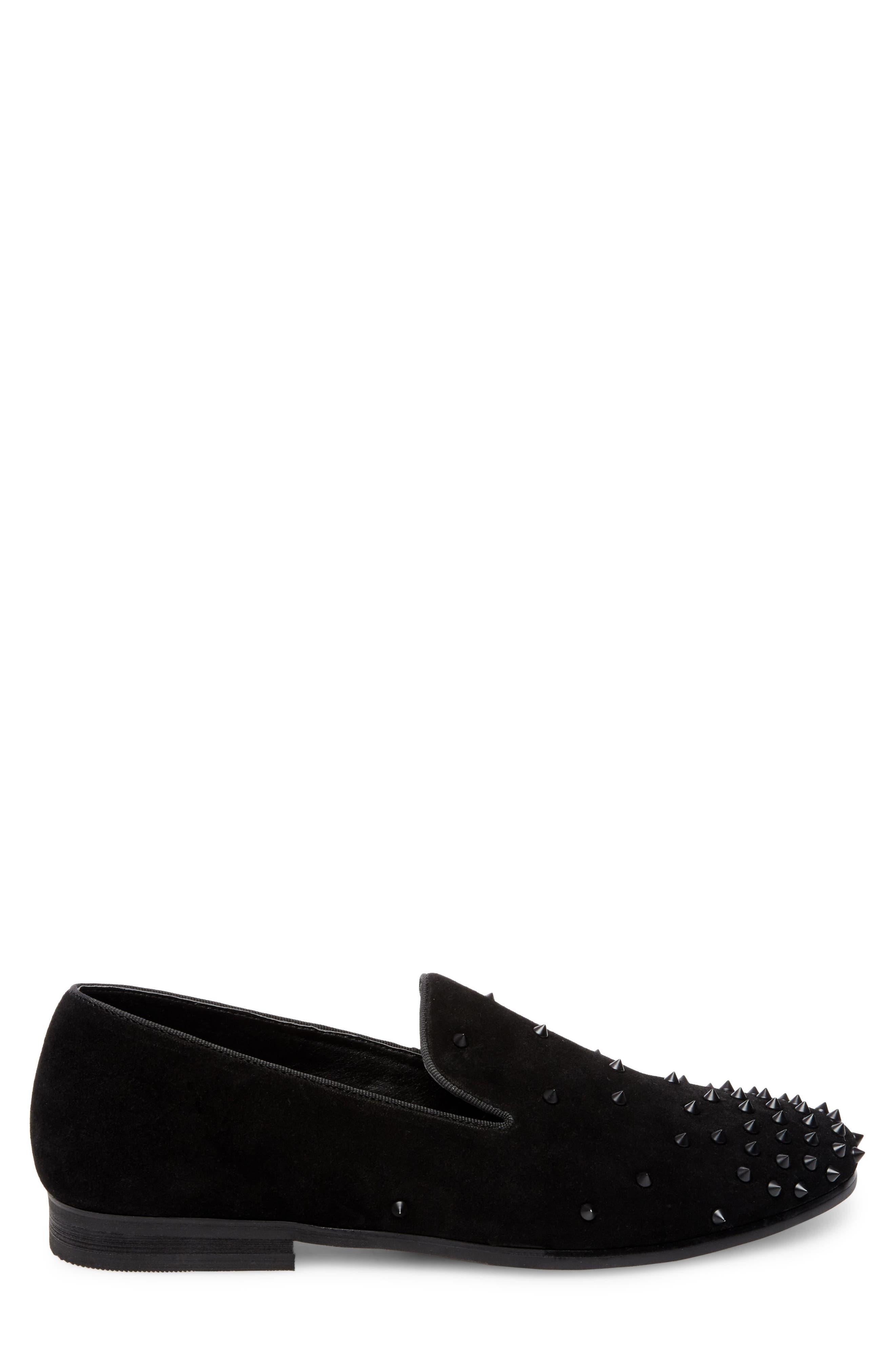 Cascade Studded Loafer,                             Alternate thumbnail 3, color,                             001