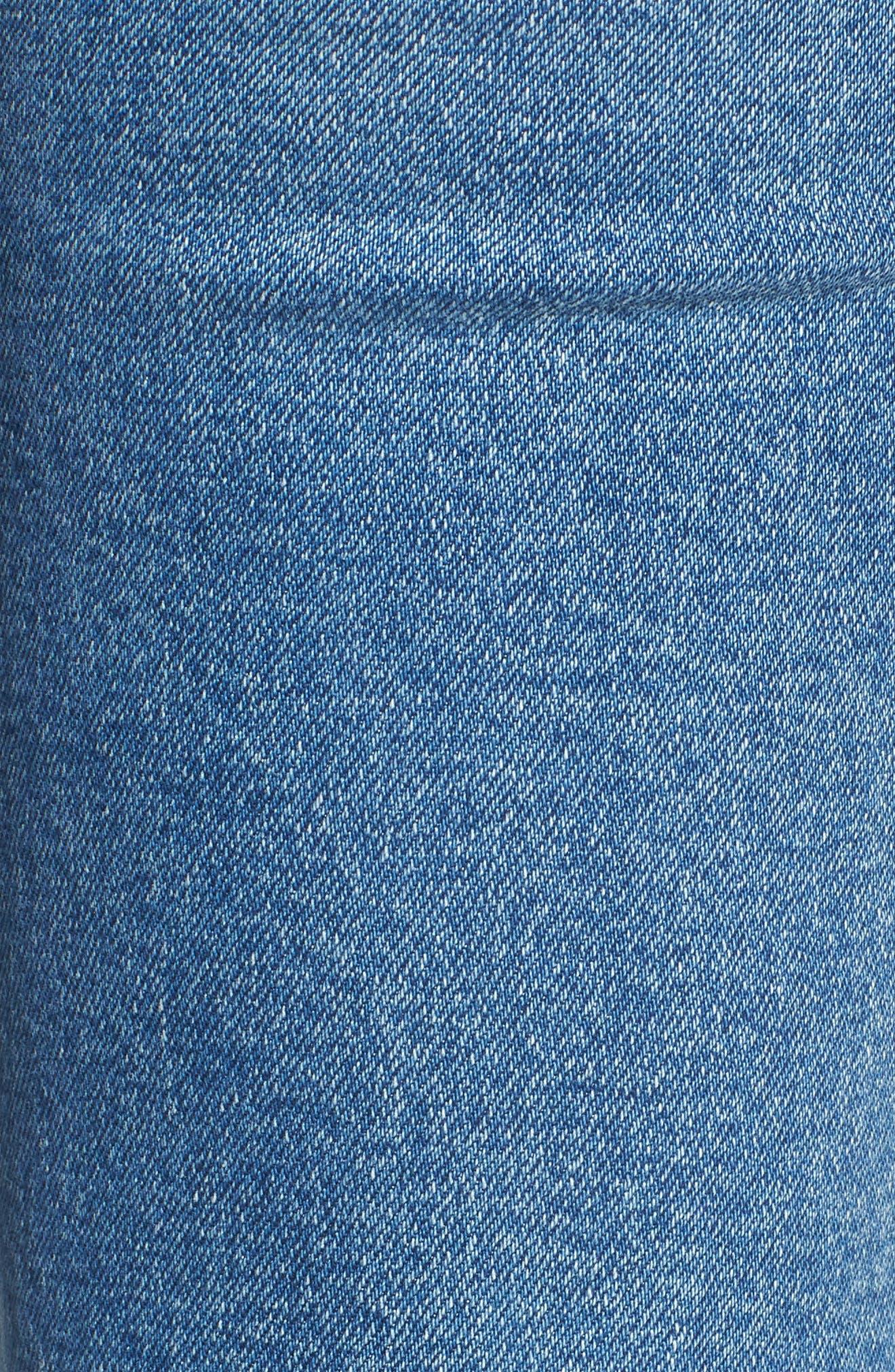 Zoeey High Waist Cuff Straight Leg Jeans,                             Alternate thumbnail 6, color,                             425