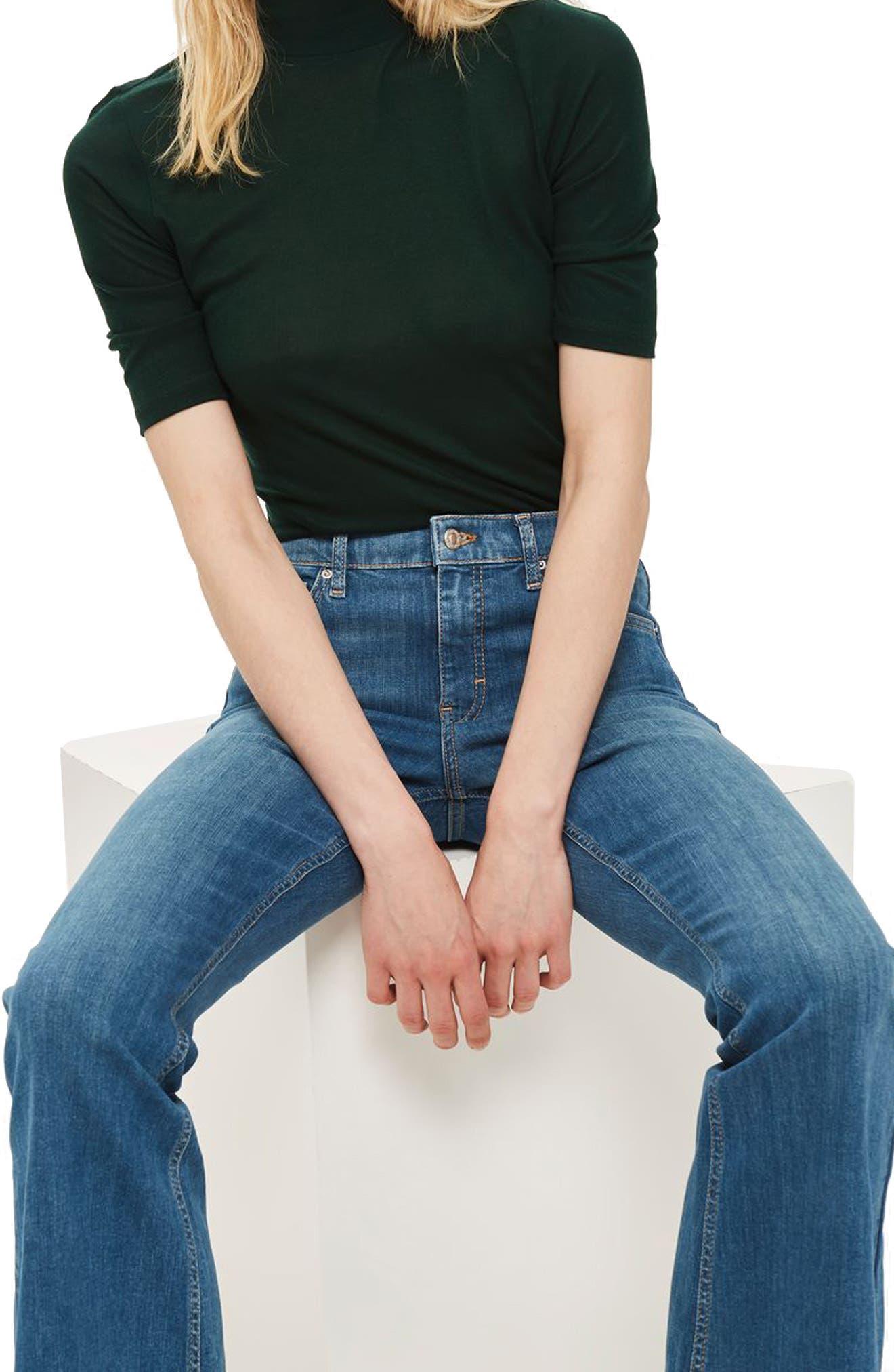 Jamie Flare Jeans,                             Main thumbnail 1, color,                             MID BLUE