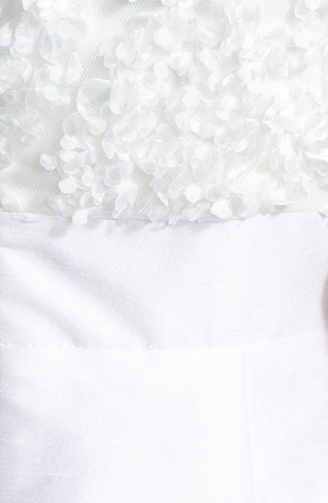 'Gemma' Strapless Rosette Dress,                             Alternate thumbnail 3, color,                             900