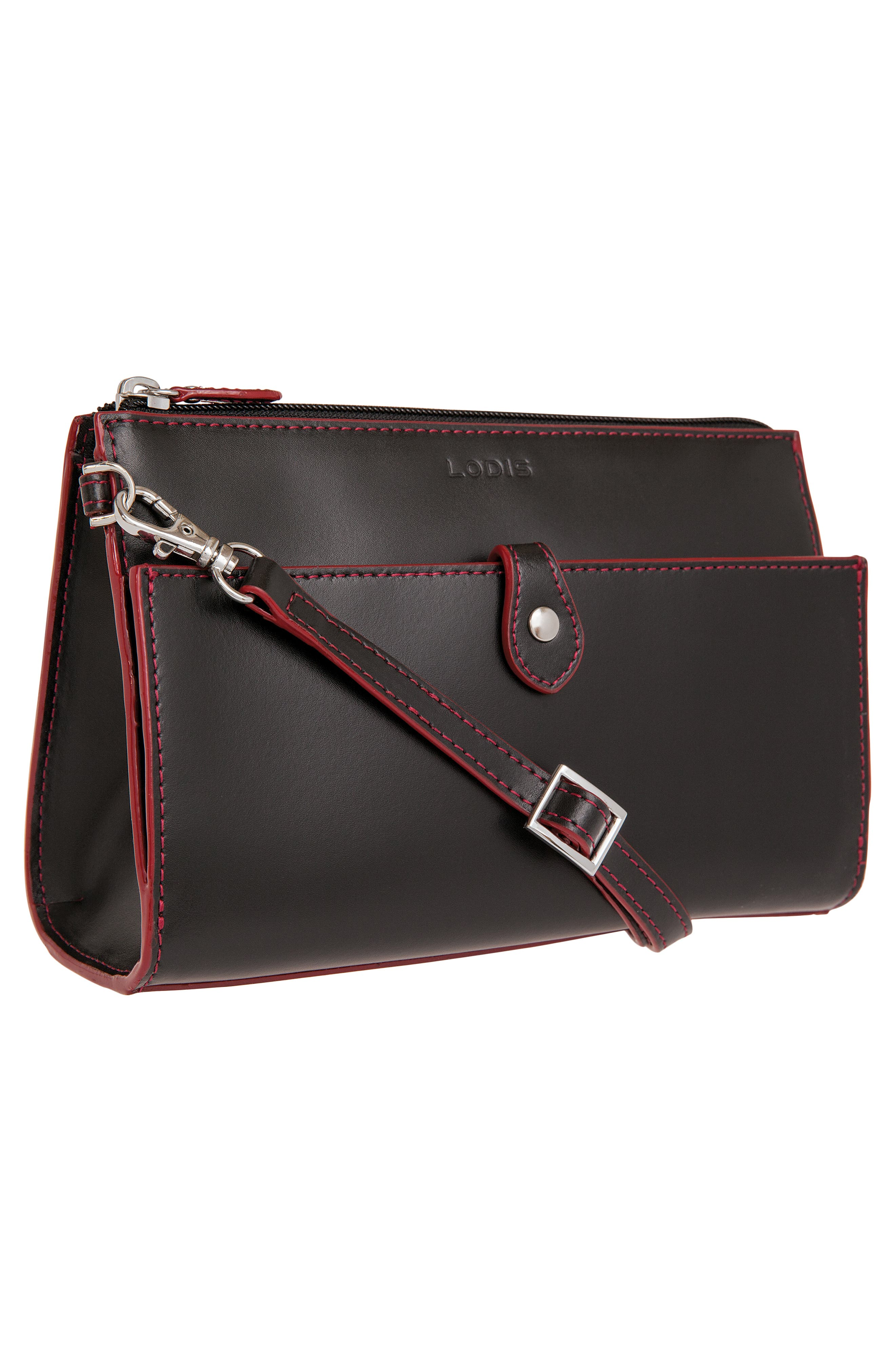 Audrey Under Lock & Key Vicky Convertible Leather Crossbody Bag,                             Alternate thumbnail 5, color,                             001