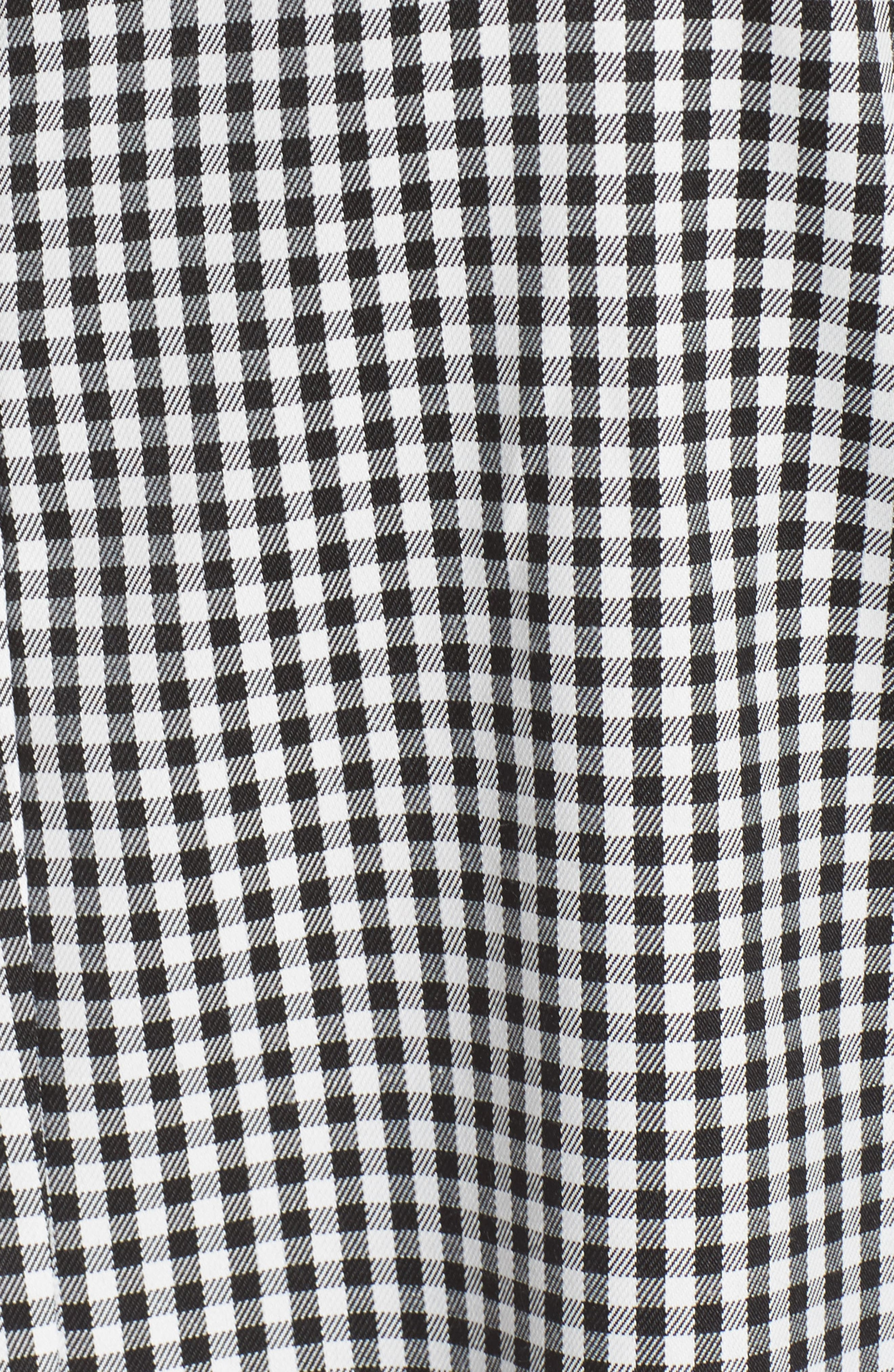 One-Shoulder Gingham Dress,                             Alternate thumbnail 6, color,                             001
