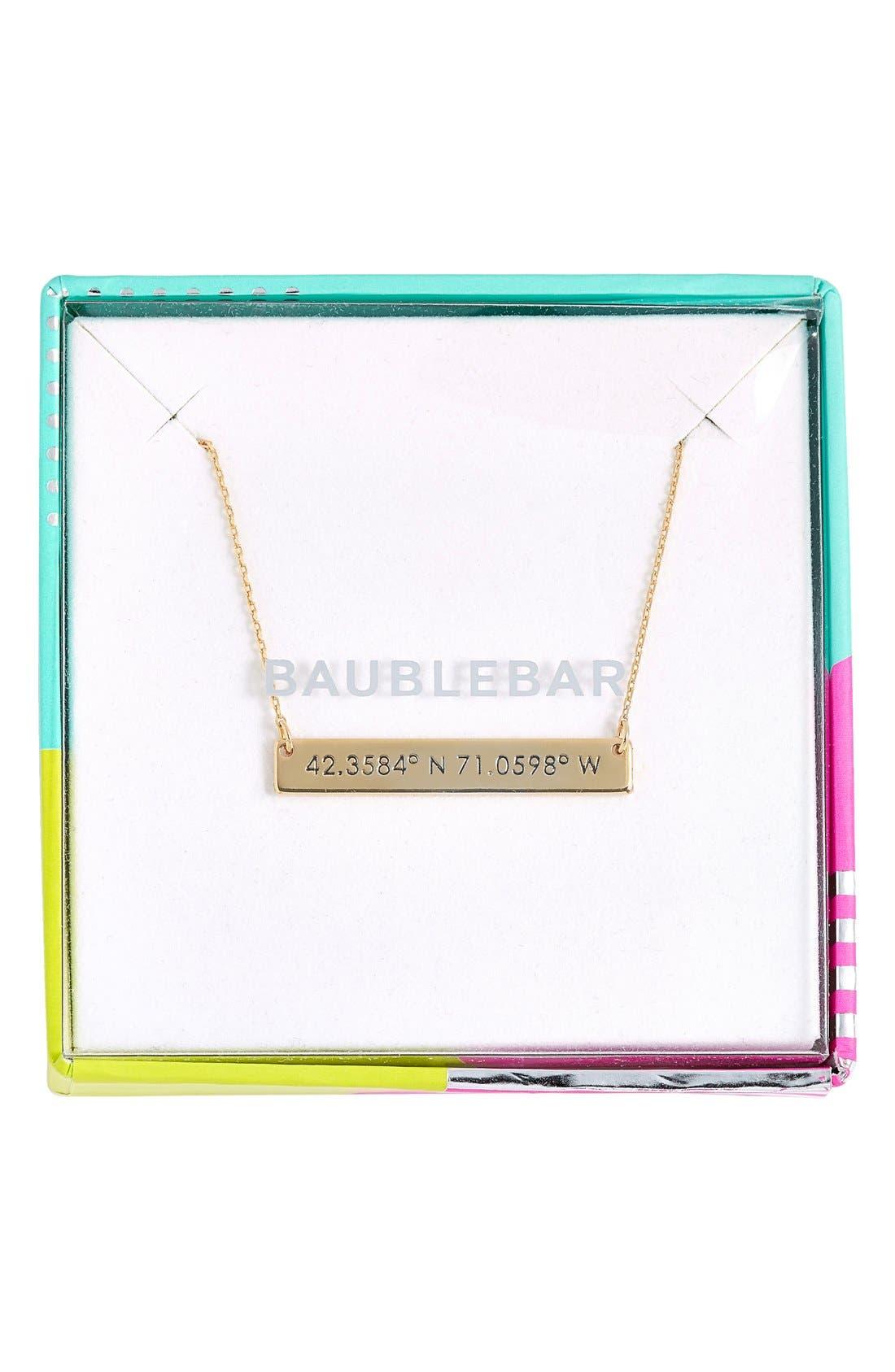 Coordinate Bar Pendant Necklace,                             Alternate thumbnail 22, color,