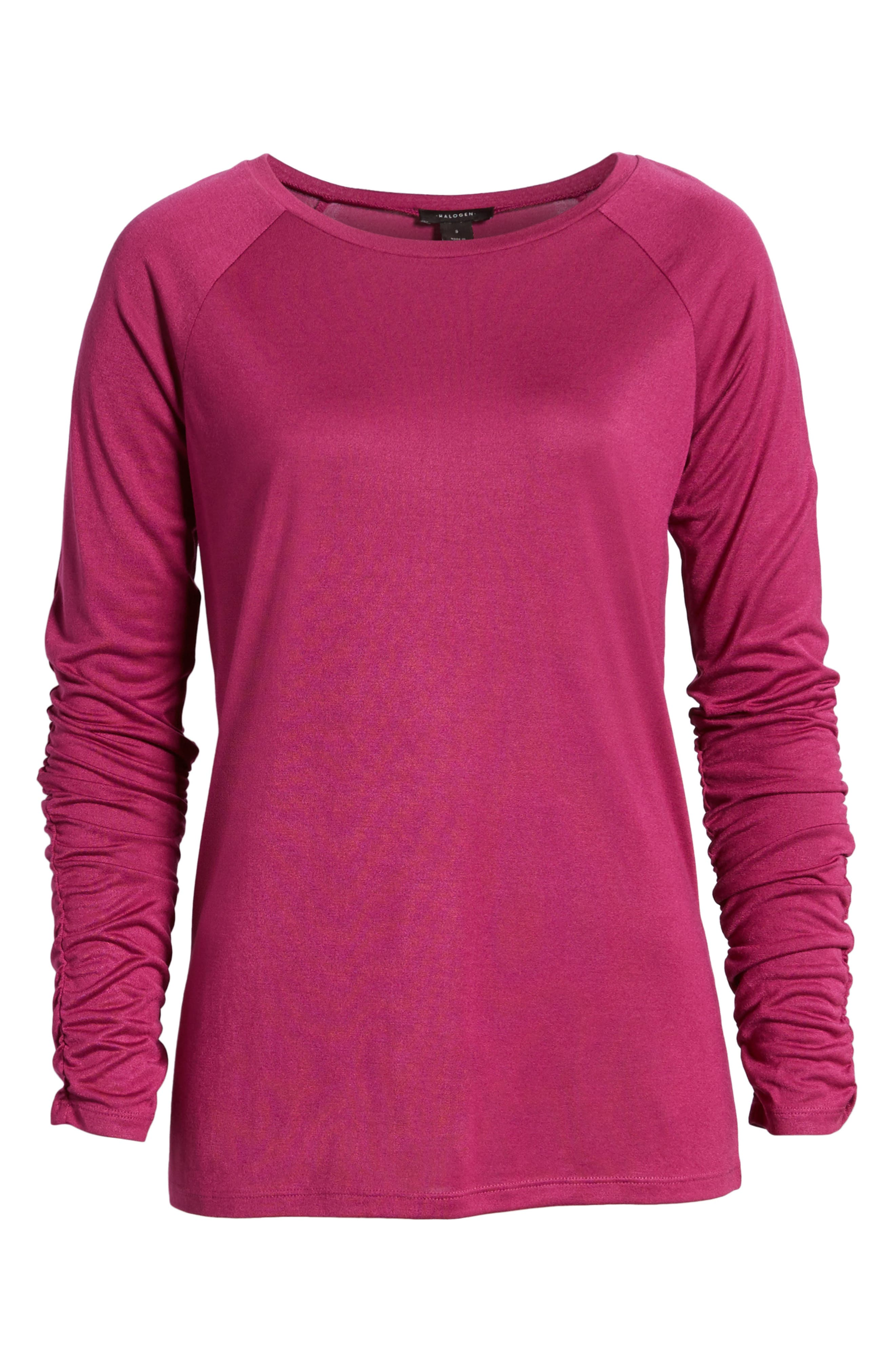 Ruched Sleeve Tee,                             Alternate thumbnail 24, color,