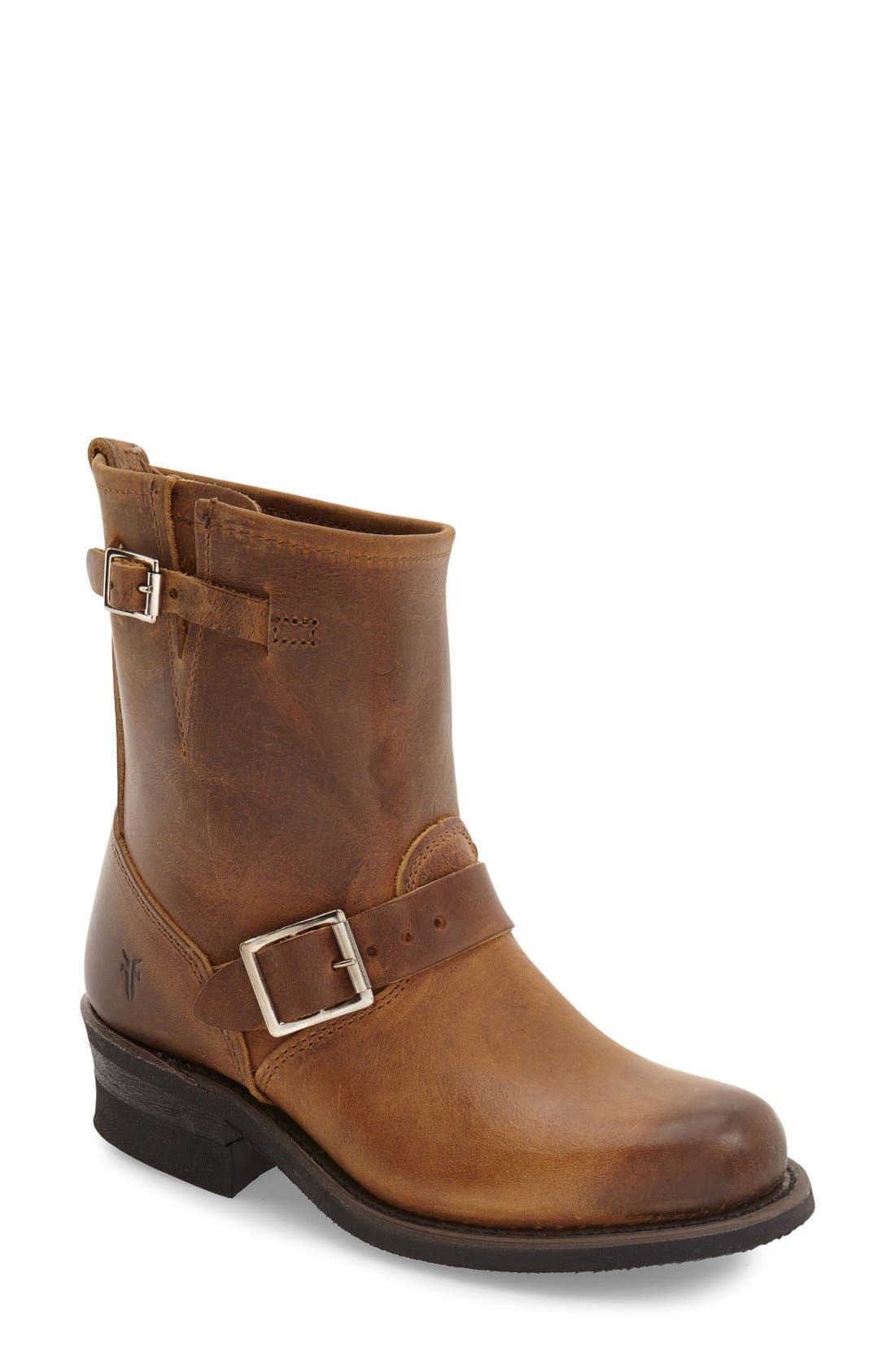 'Engineer 8R' Leather Boot,                             Main thumbnail 1, color,