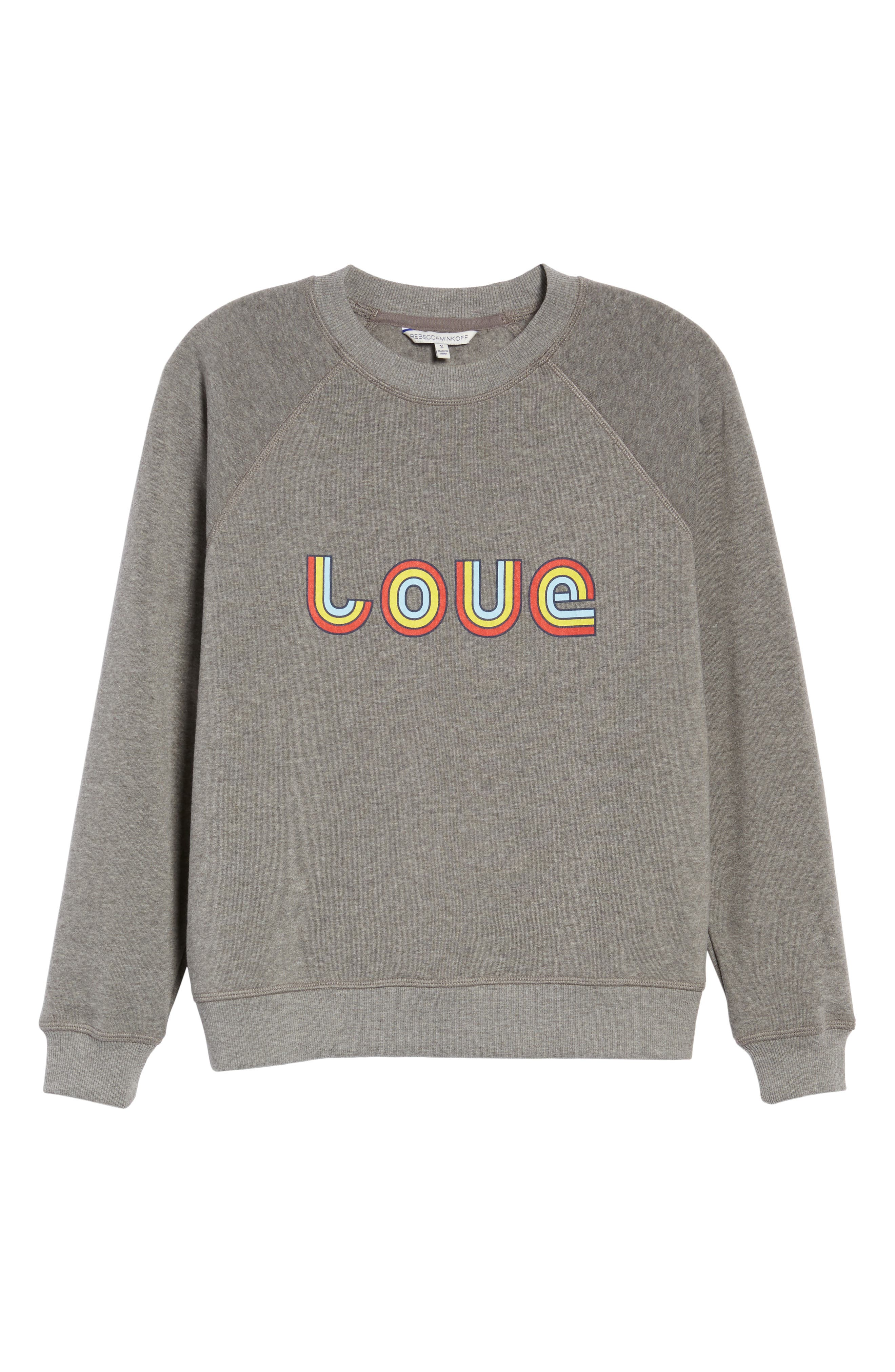 Love Sweatshirt,                             Alternate thumbnail 6, color,                             030