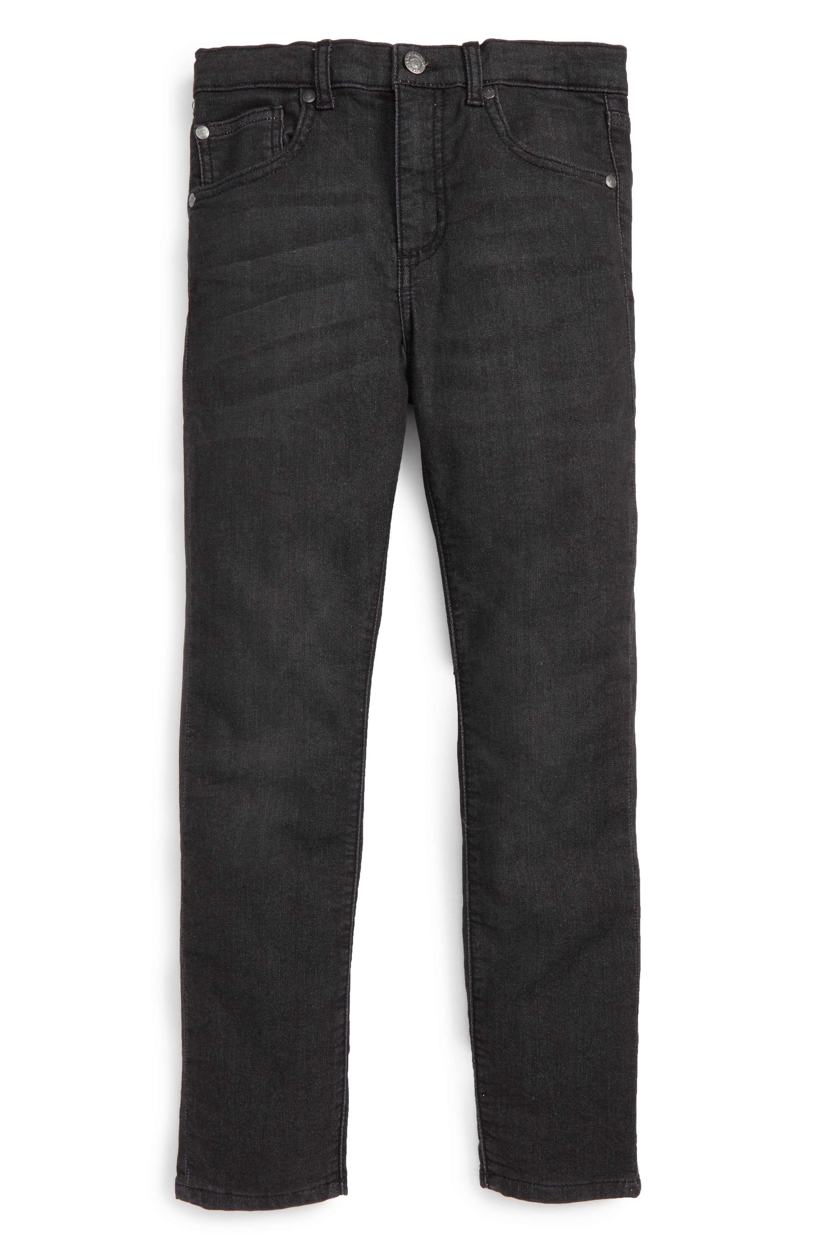 Stretch Cotton Skinny Jeans,                         Main,                         color, 001