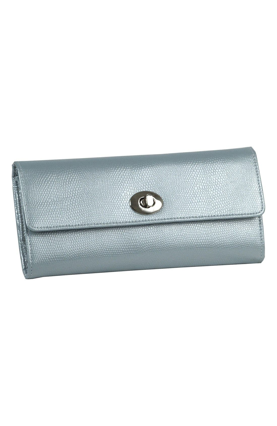 'London' Jewelry Roll,                         Main,                         color, ICE BLUE