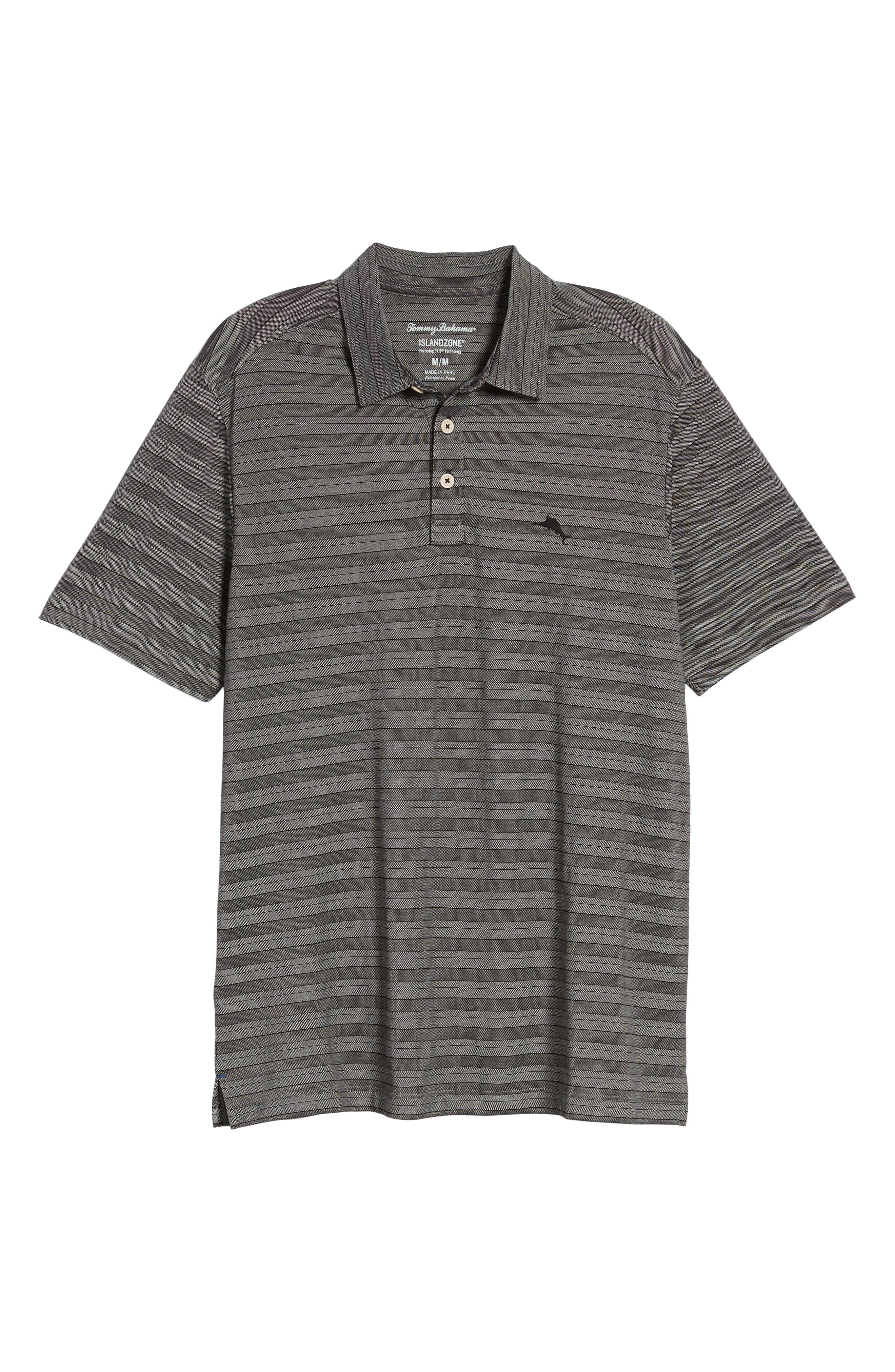 Tropicool Tides Stripe Polo,                             Alternate thumbnail 6, color,                             001
