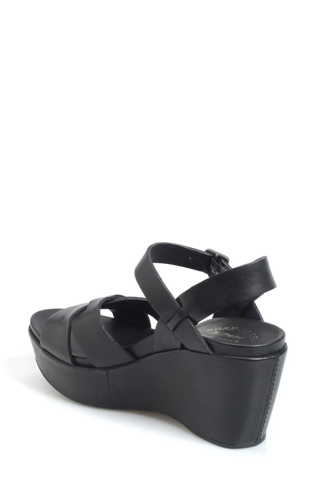 'Ava 2.0' Platform Wedge Sandal,                             Alternate thumbnail 6, color,                             BLACK