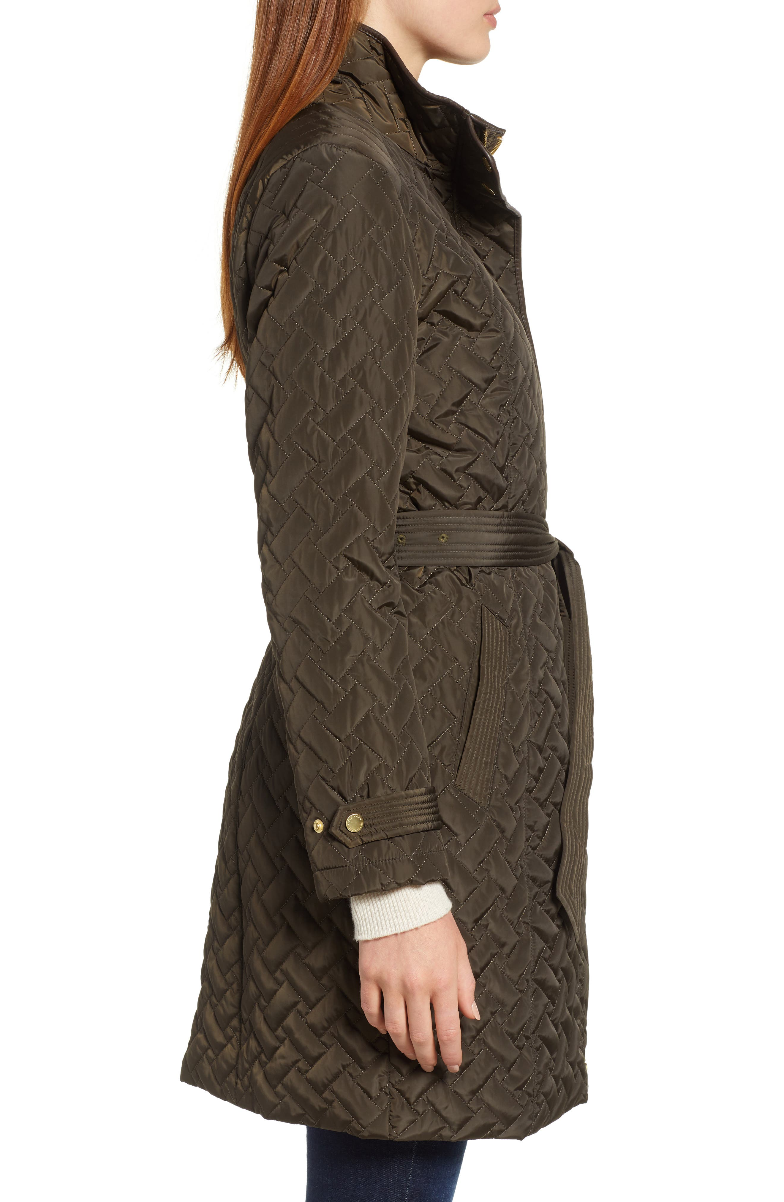 Belted Quilted Coat,                             Alternate thumbnail 15, color,