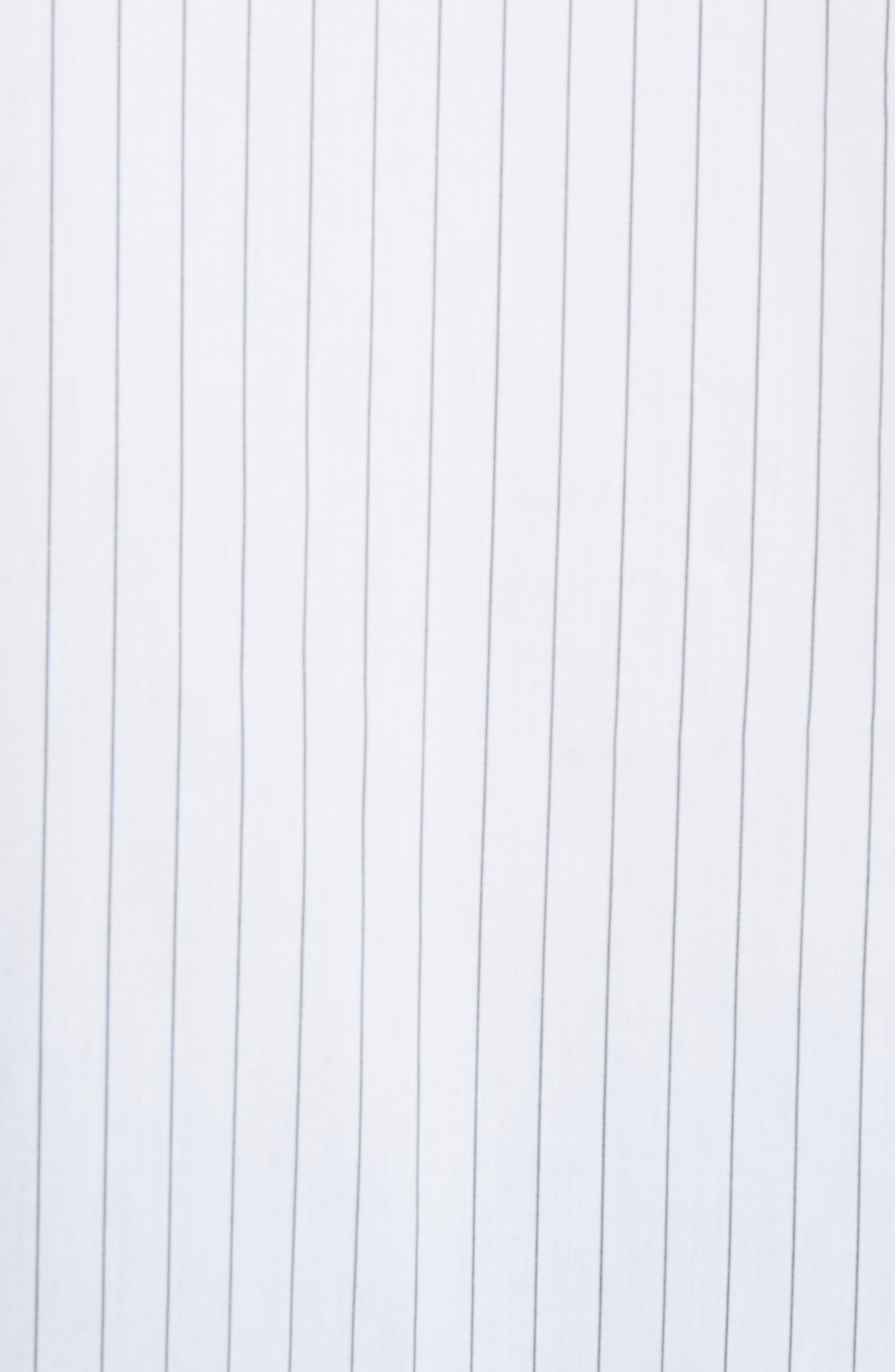 Elongated Placket Stripe Woven Shirt,                             Alternate thumbnail 5, color,