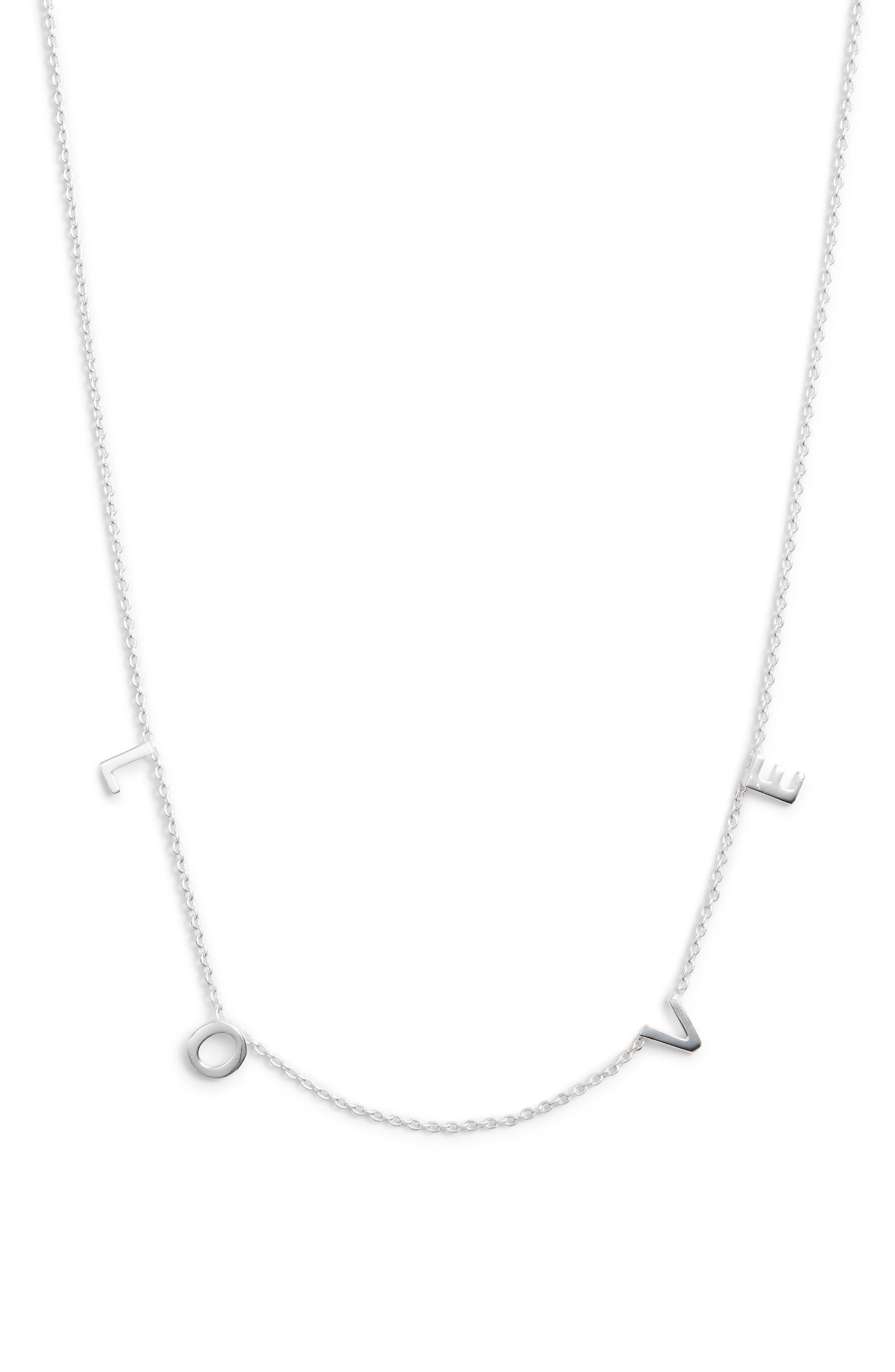 Love Frontal Necklace, Main, color, 040