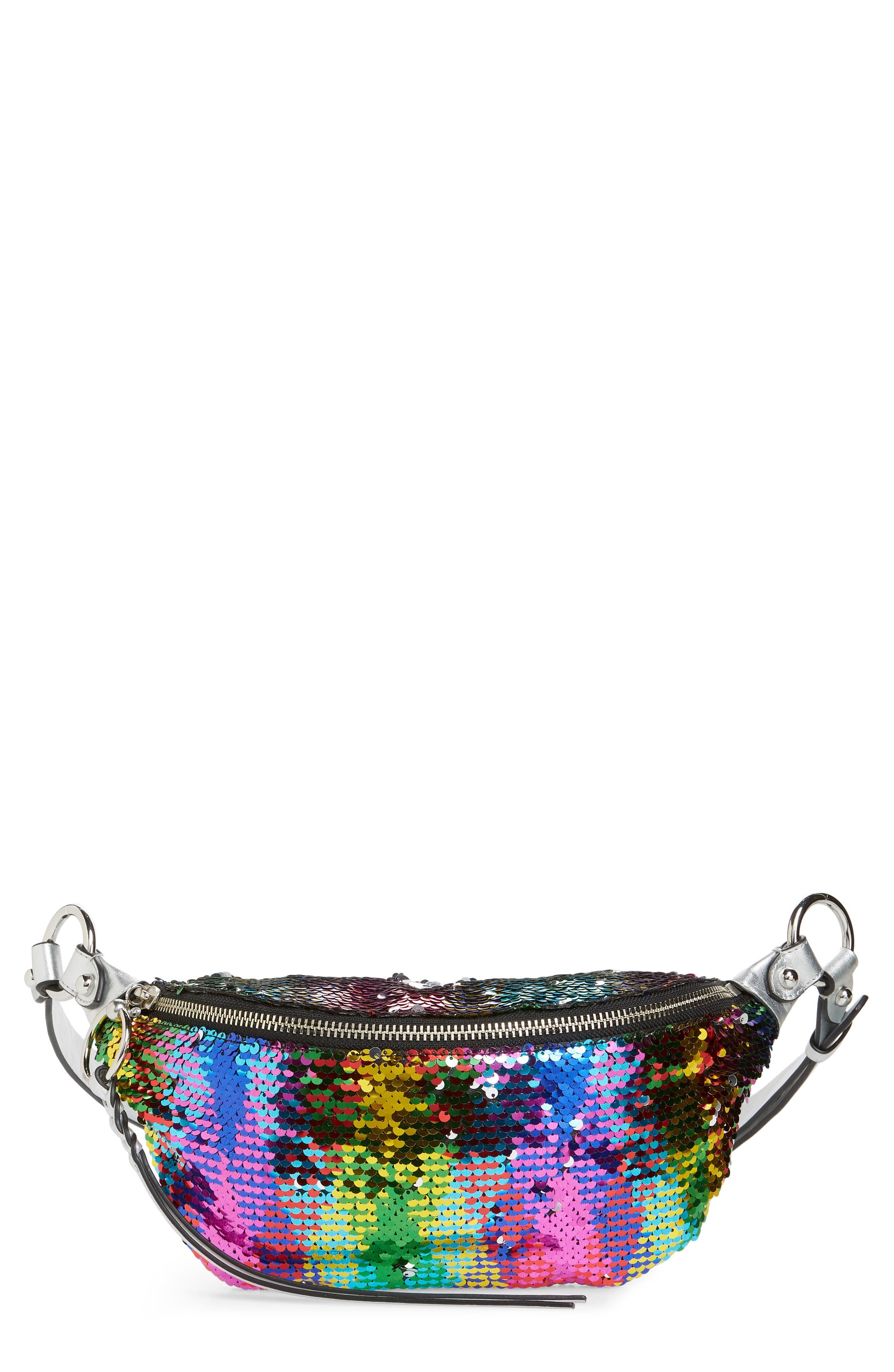Sequin Belt Bag,                         Main,                         color, 040
