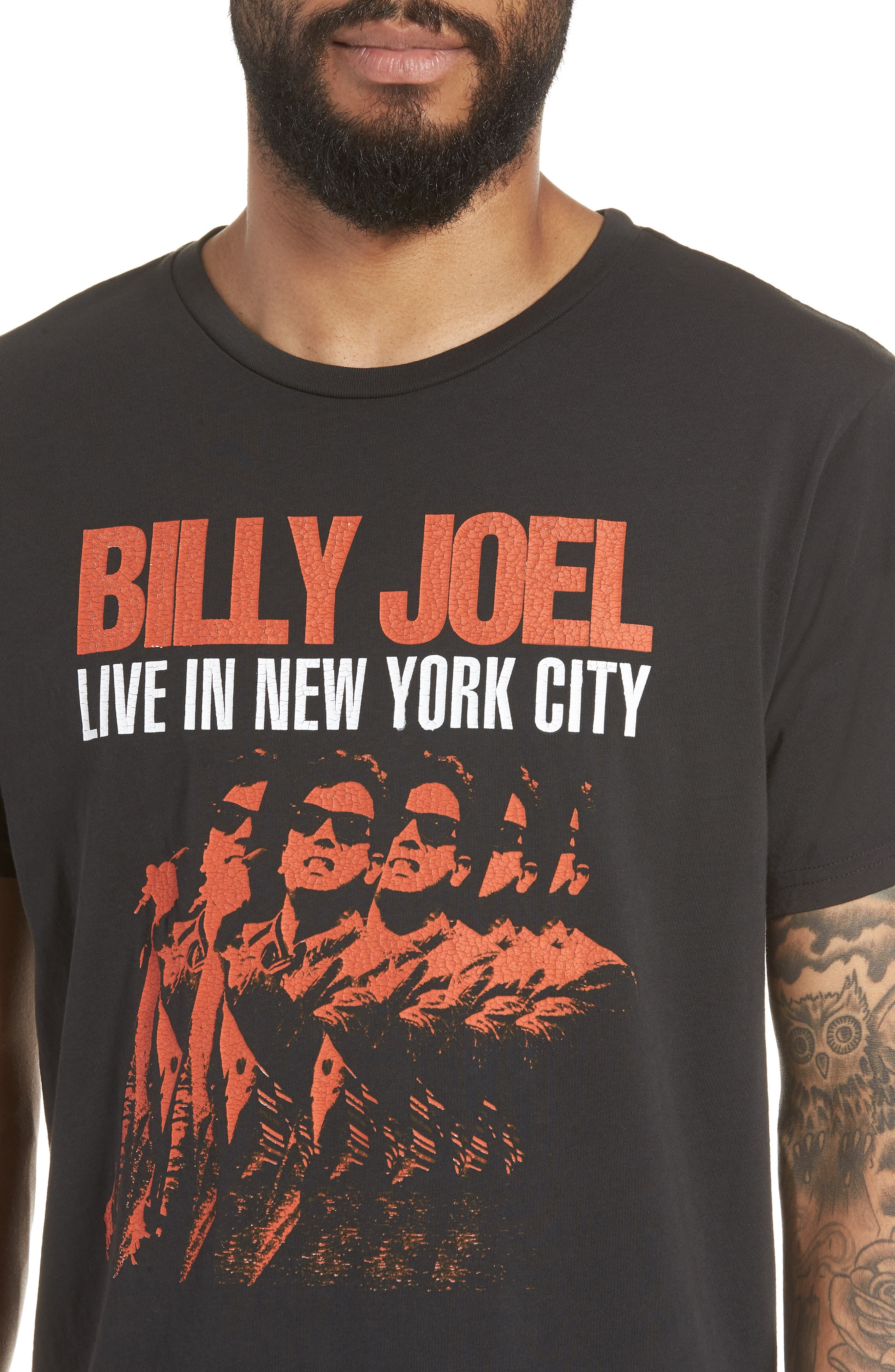 Billy Joel Live in NYC Crewneck T-Shirt,                             Alternate thumbnail 4, color,                             001