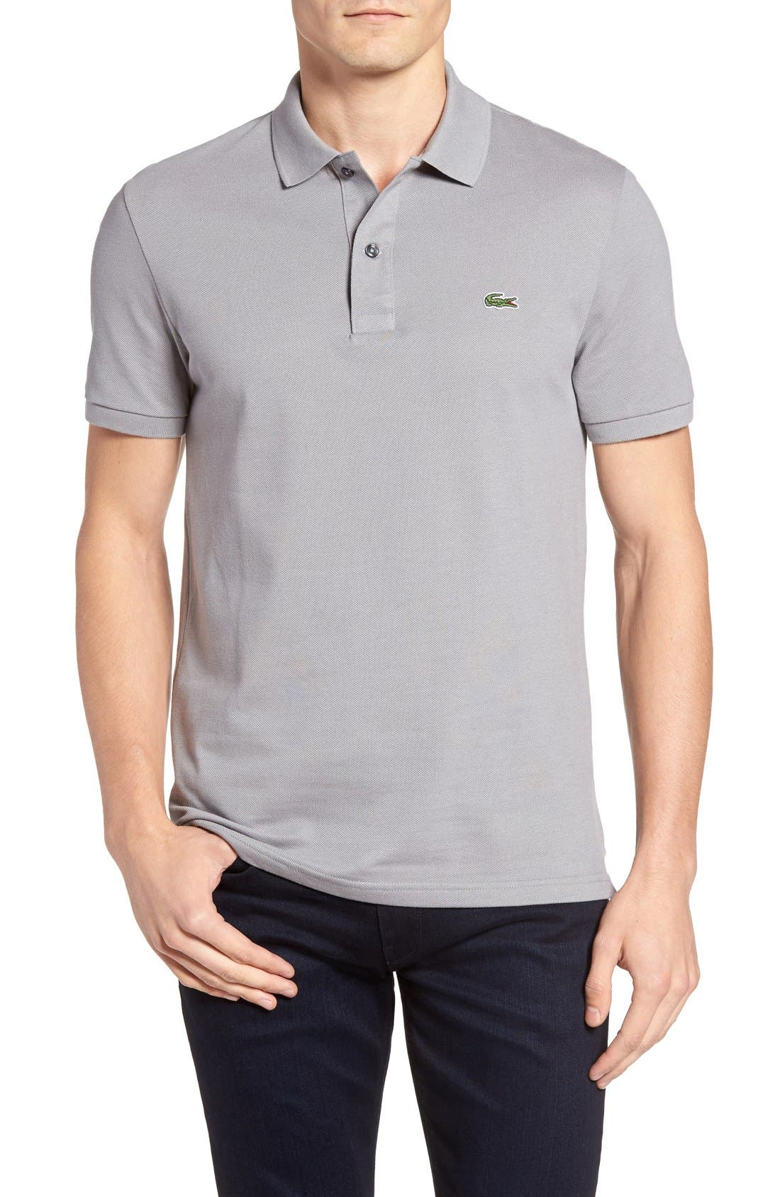 Slim Fit Piqué Polo,                             Main thumbnail 1, color,