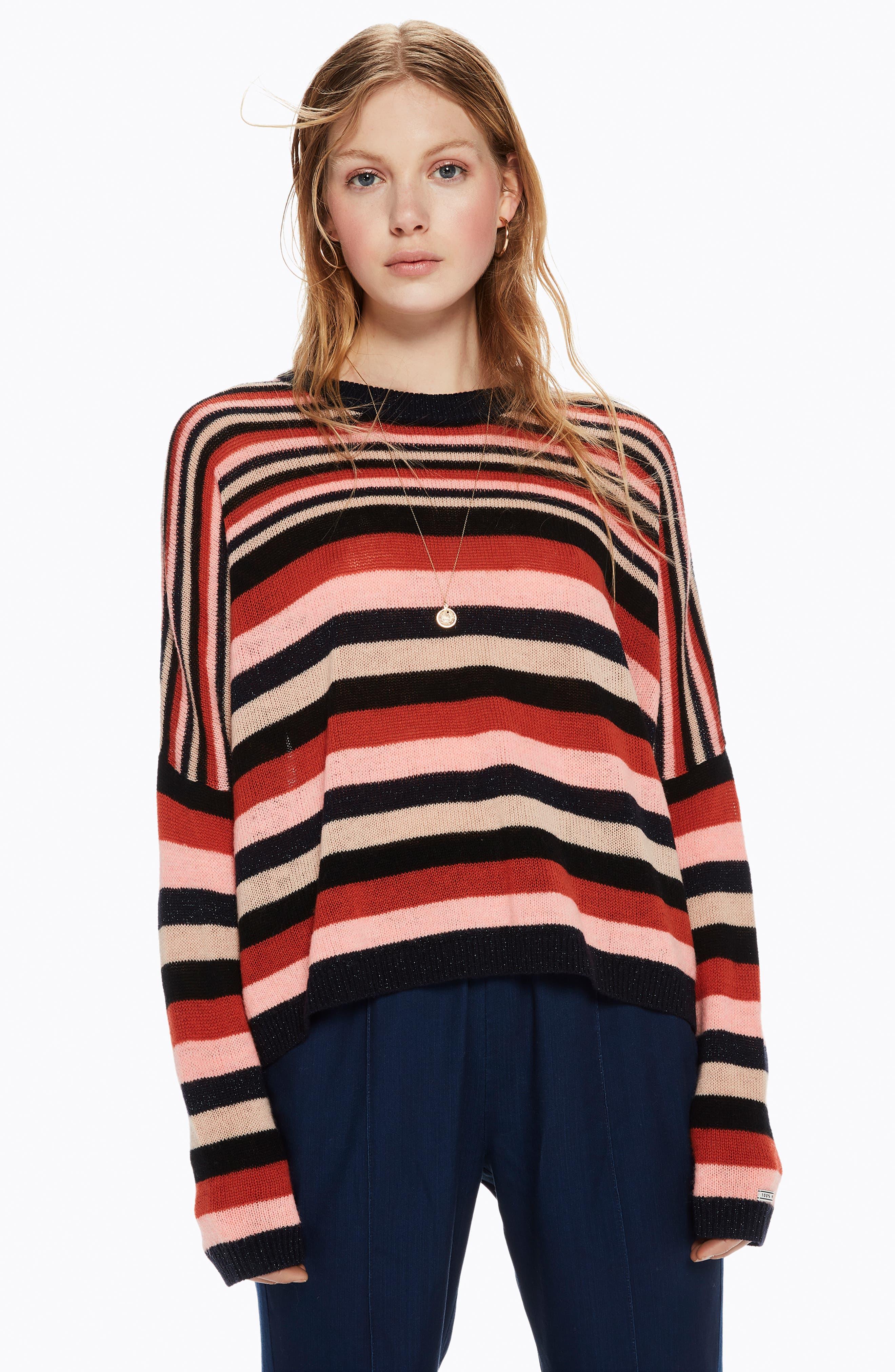 SCOTCH & SODA,                             Stripe Sweater,                             Alternate thumbnail 8, color,                             651