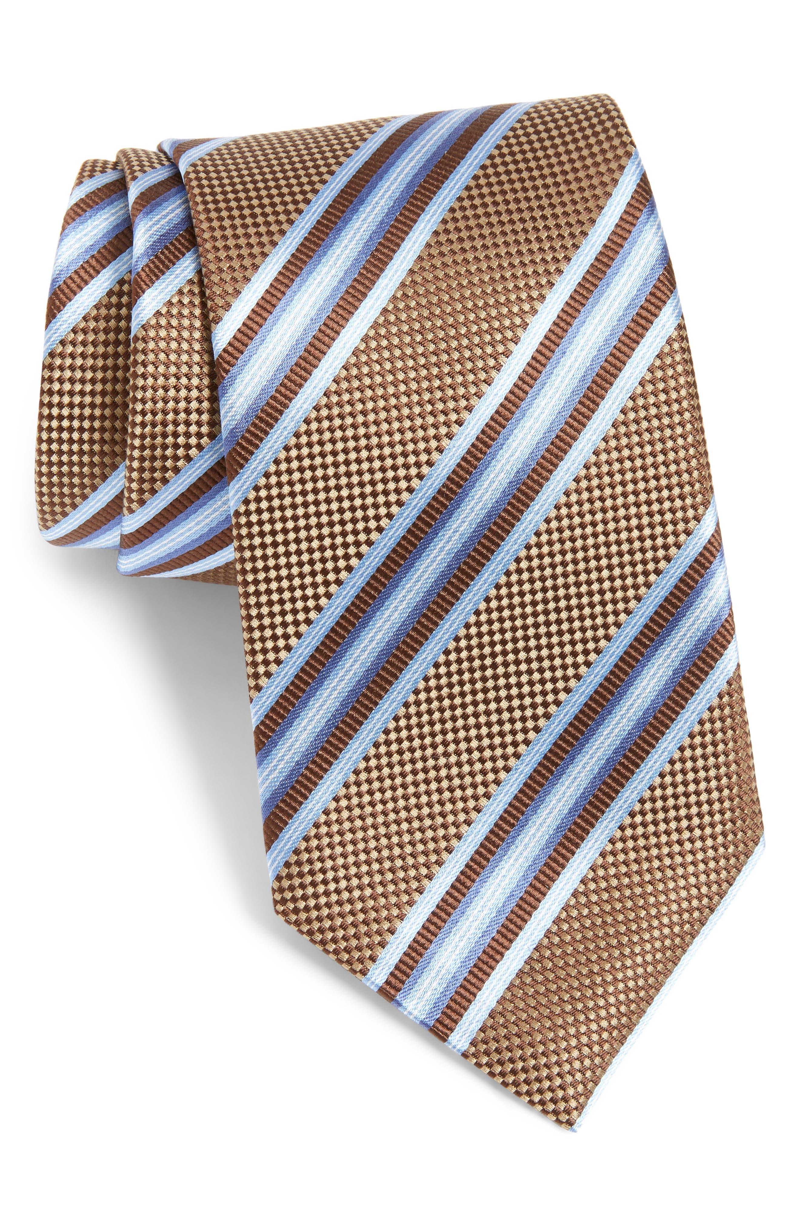 Stripe Silk Tie,                             Main thumbnail 1, color,                             212