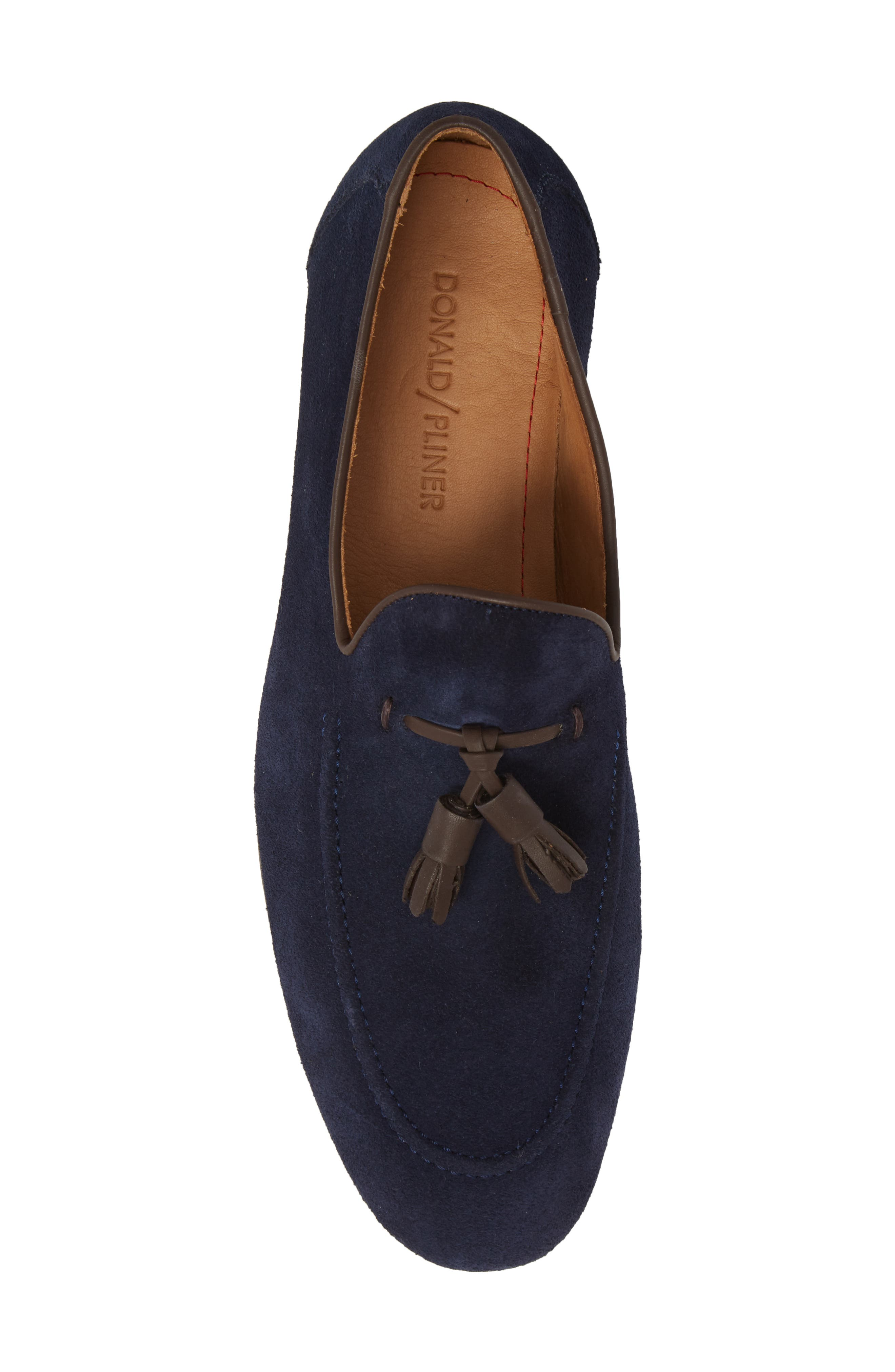 Ario Tassel Loafer,                             Alternate thumbnail 5, color,                             NAVY SUEDE