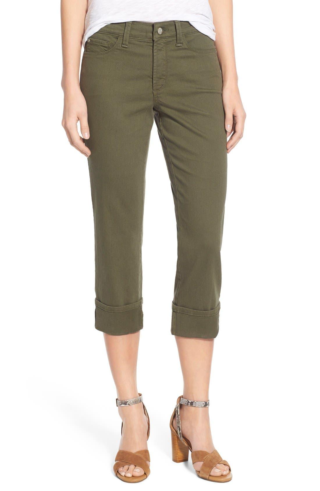 'Dayla' Colored Wide Cuff Capri Jeans,                             Main thumbnail 5, color,
