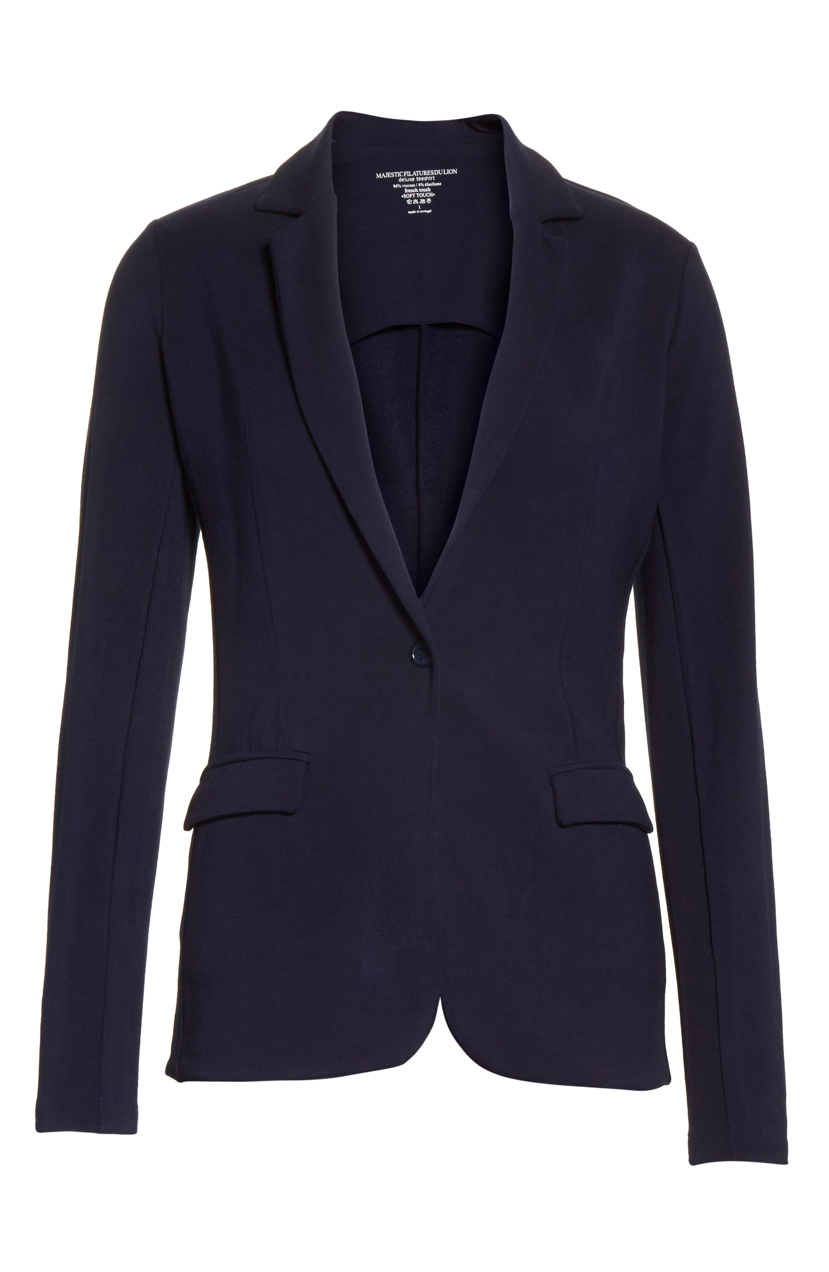 French Terry Blazer,                             Alternate thumbnail 12, color,