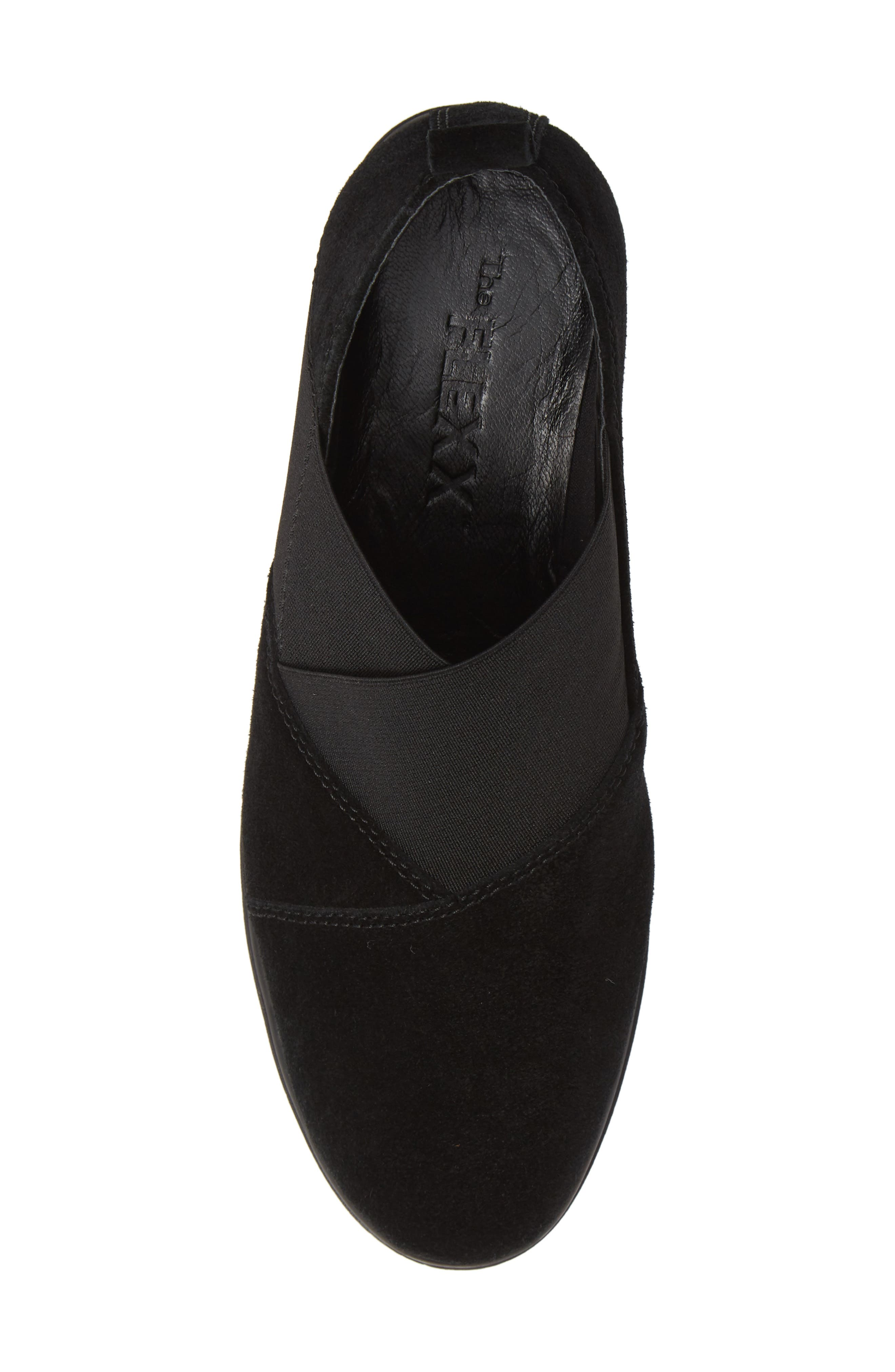 Crosstown Slip-On Shoe,                             Alternate thumbnail 5, color,                             BLACK SUEDE