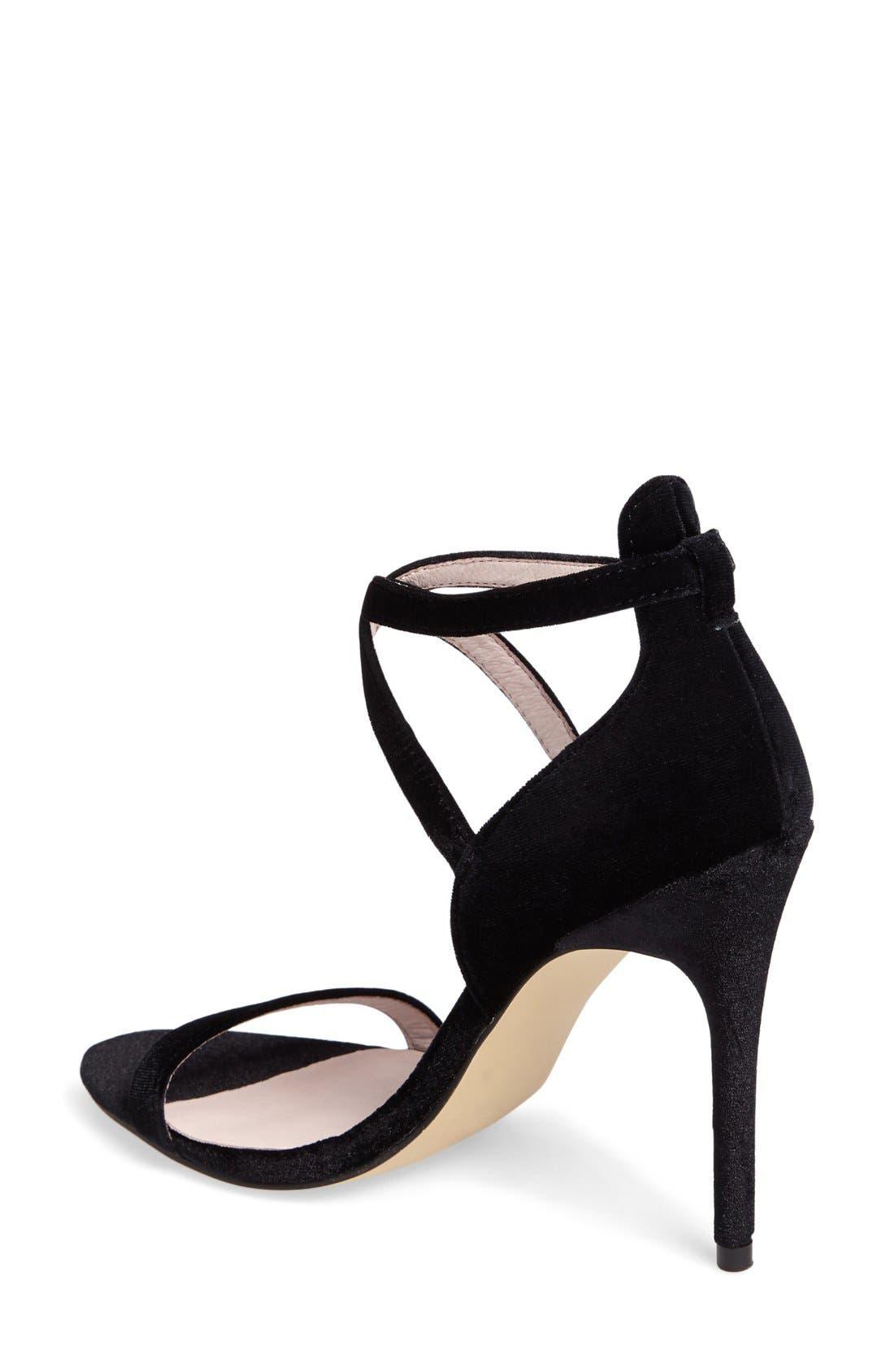 Lavelle Ankle Strap Sandal,                             Alternate thumbnail 6, color,                             001
