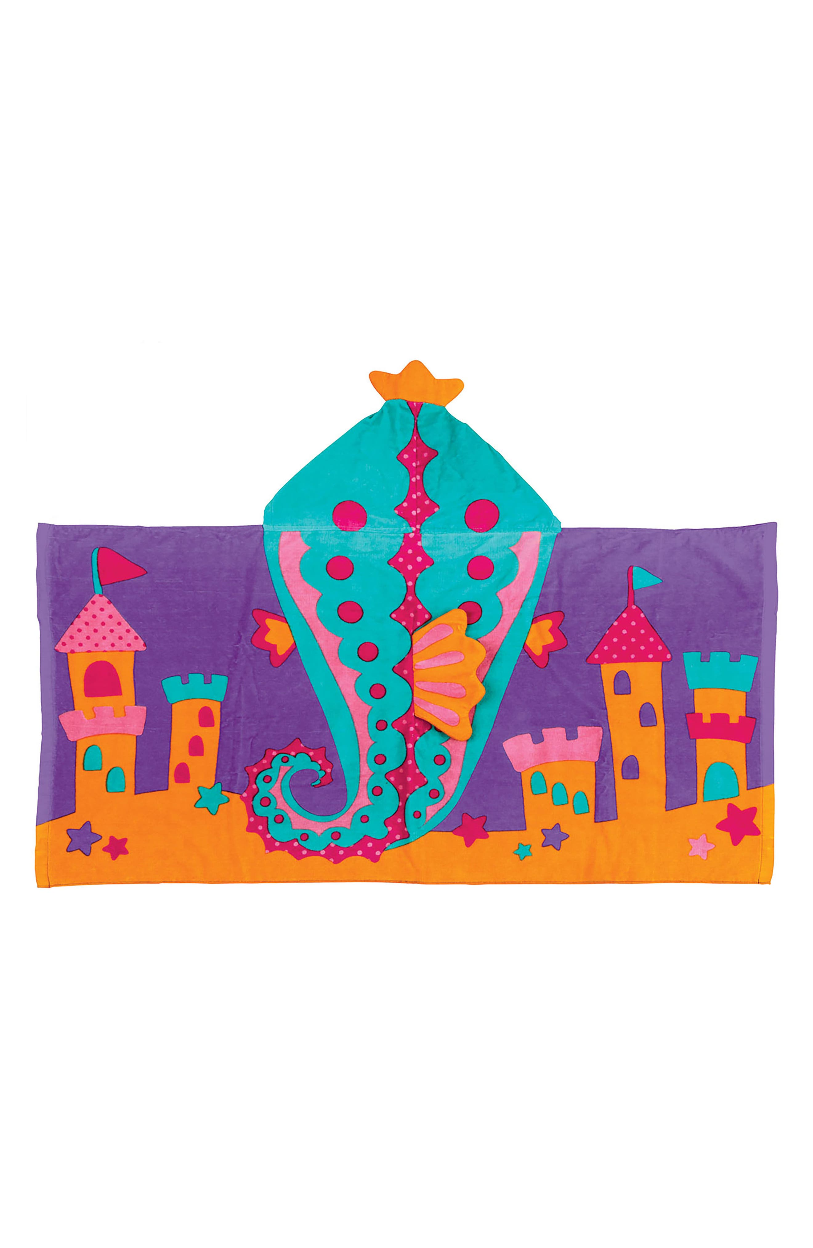 Bag, Hooded Towel & Goggles,                             Alternate thumbnail 6, color,                             PURPLE SEAHORSE