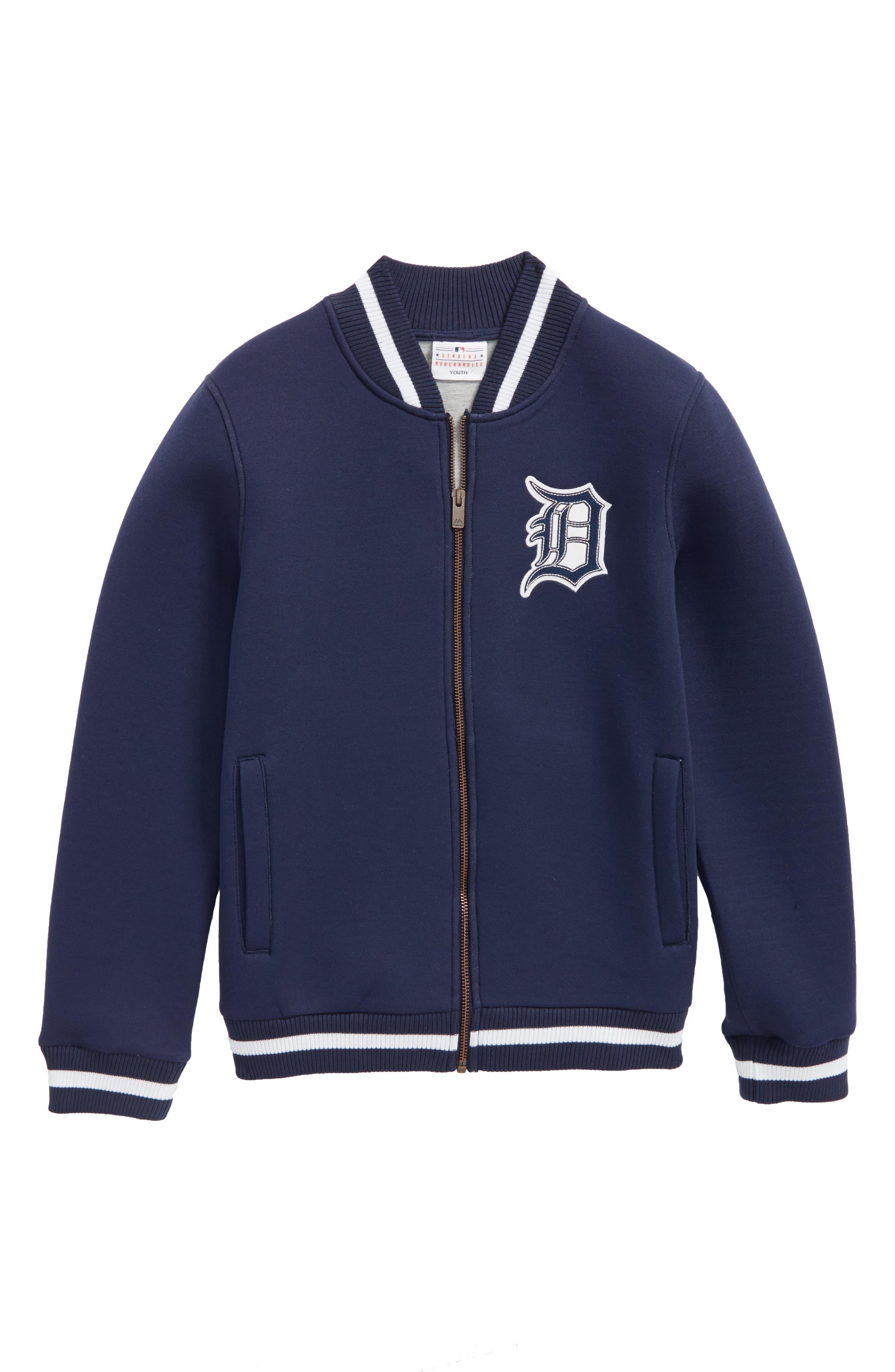 Classical Detroit Tigers Knit Varsity Jacket,                             Main thumbnail 1, color,