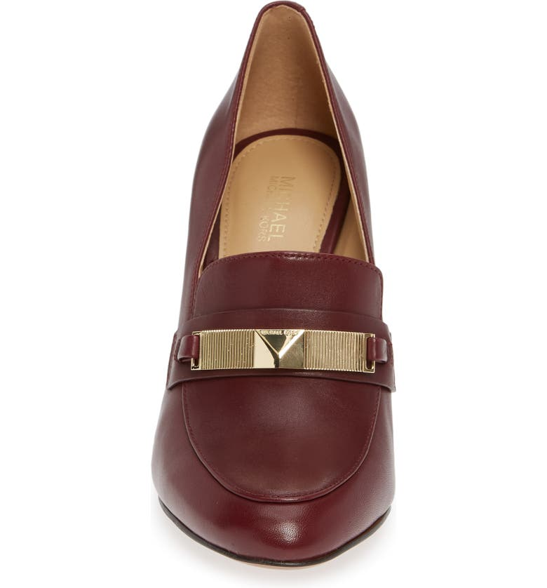 a54f2b50e49 Shop Michael Michael Kors Sheila Loafer Pump In Oxblood Leather